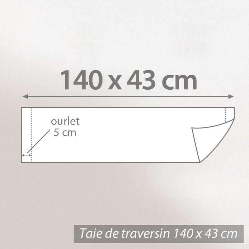 taie de traversin 140x43cm uni pur coton alto rose macaron linnea linge de maison et. Black Bedroom Furniture Sets. Home Design Ideas