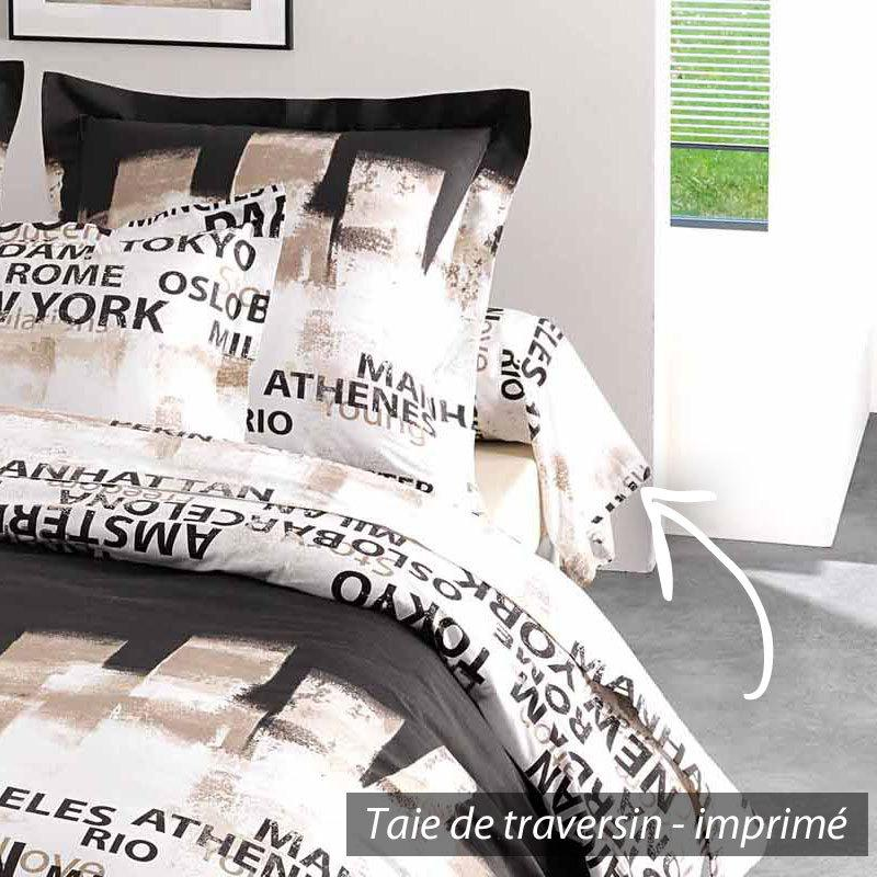 taie de traversin 200x43 cm factory linnea vente de linge de maison. Black Bedroom Furniture Sets. Home Design Ideas