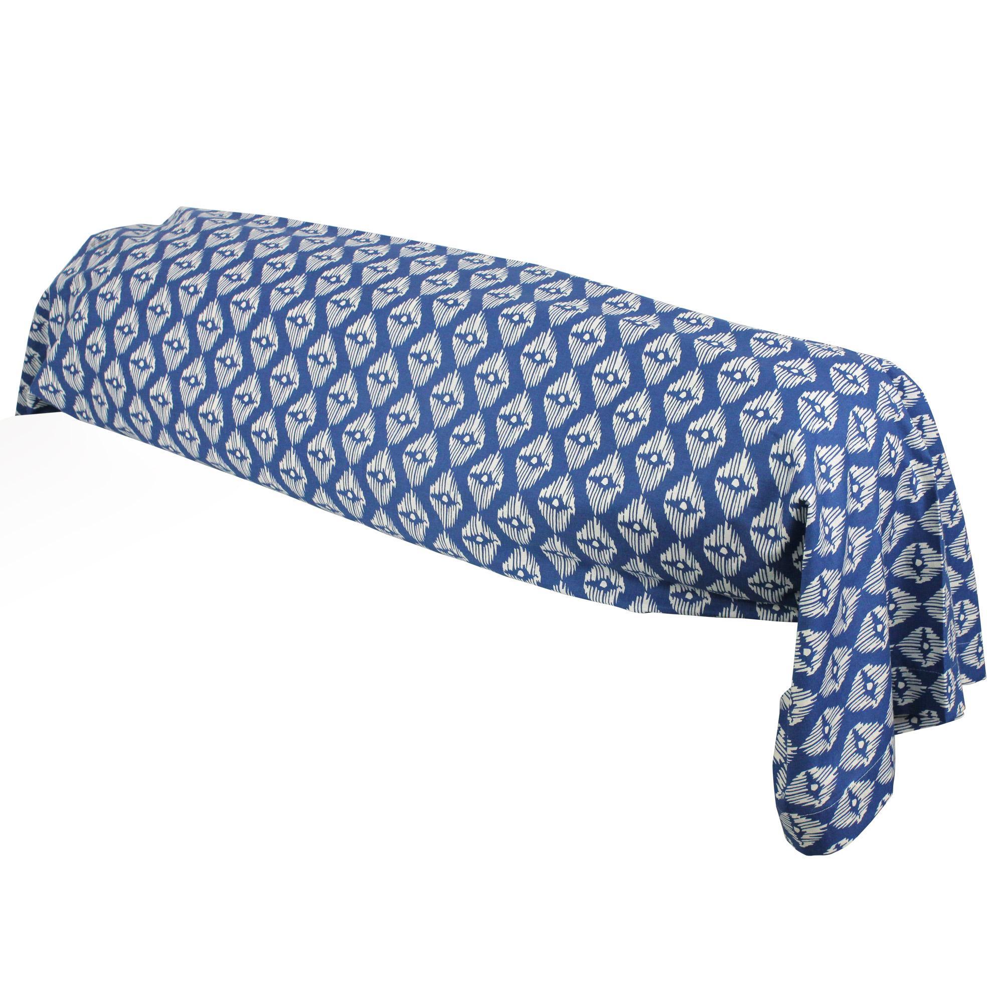 taie de traversin 200x43 cm 100 coton rio jade bleu linnea linge de maison et. Black Bedroom Furniture Sets. Home Design Ideas