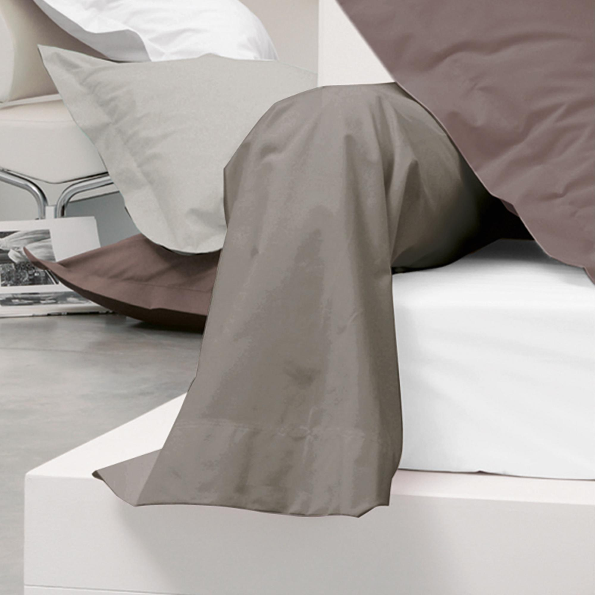 taie de traversin uni 230x43 cm 100 coton alto muscade ebay. Black Bedroom Furniture Sets. Home Design Ideas