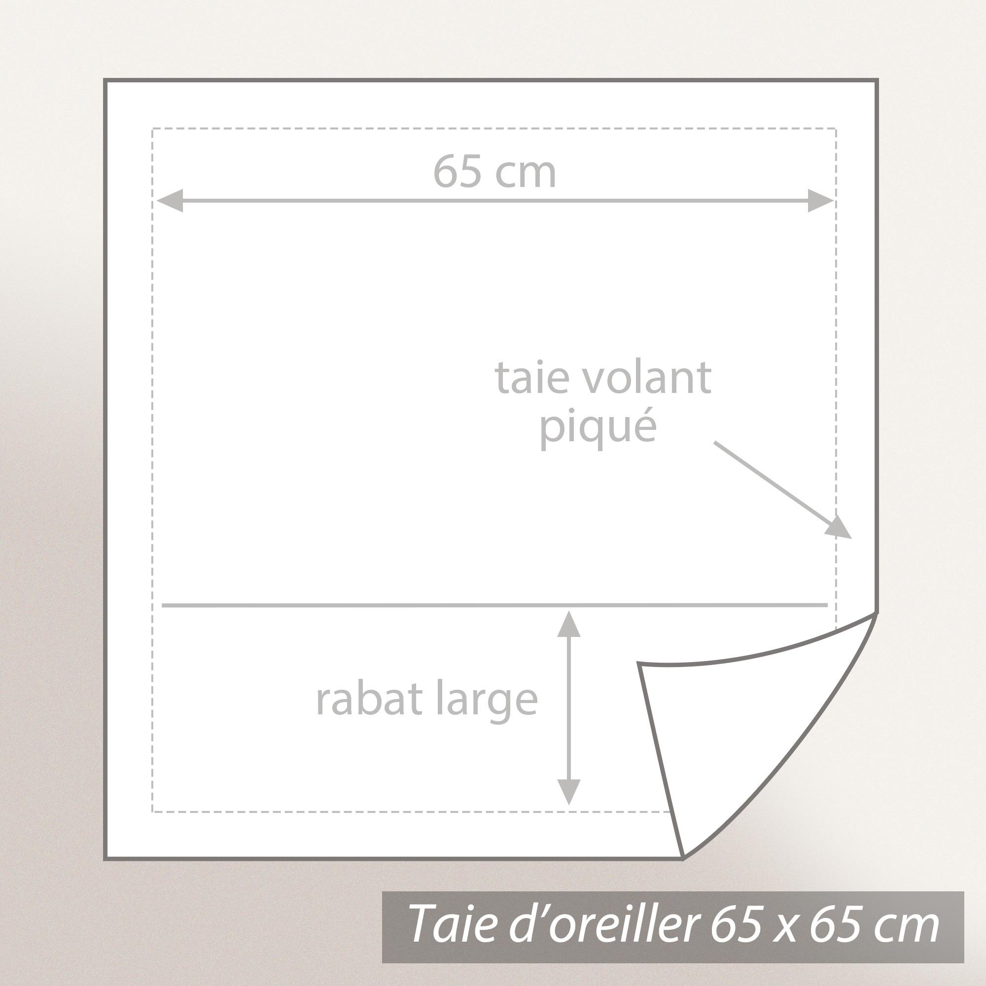 Taie-d-039-oreiller-65x65-Percale-pur-coton-CYBELE-FLOWERS-Ecru