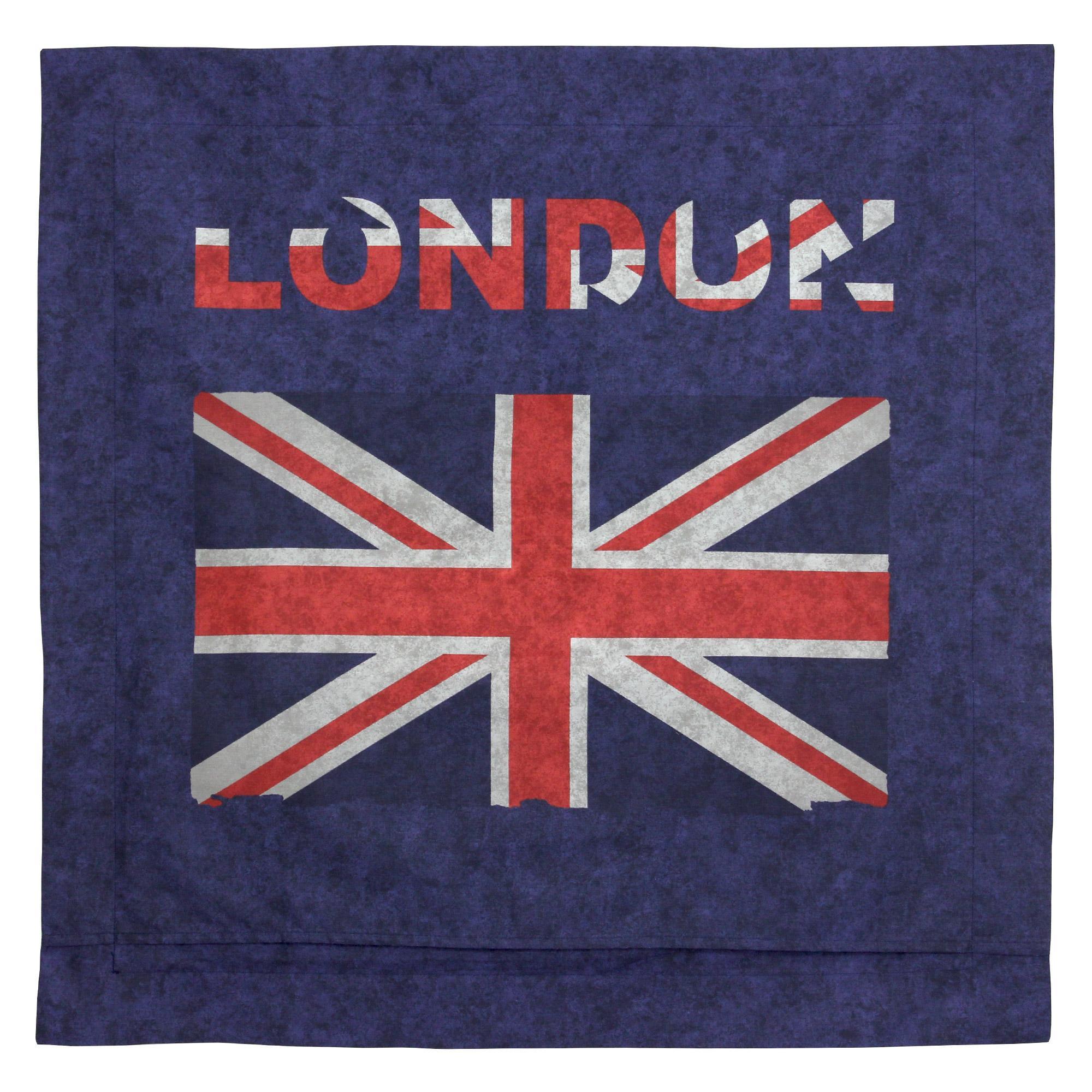 taie d 39 oreiller 65x65 cm 100 coton jack london city linnea linge de maison et. Black Bedroom Furniture Sets. Home Design Ideas
