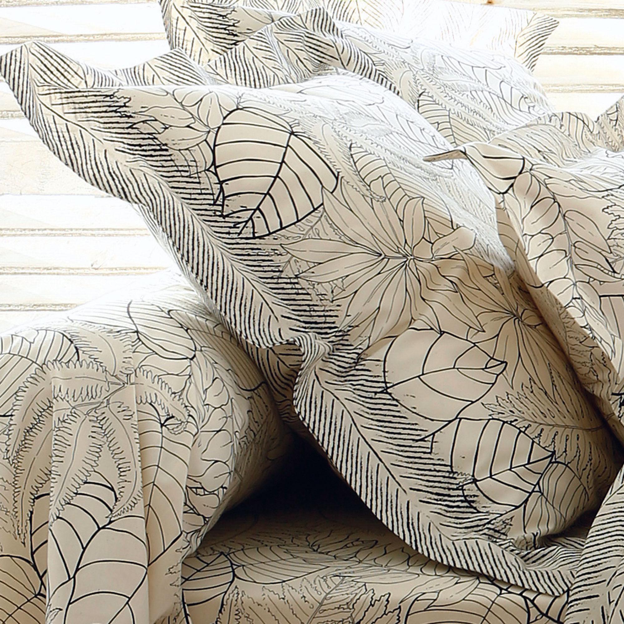 taie d 39 oreiller 65x65 cm 100 coton natura ecru linnea linge de maison et. Black Bedroom Furniture Sets. Home Design Ideas