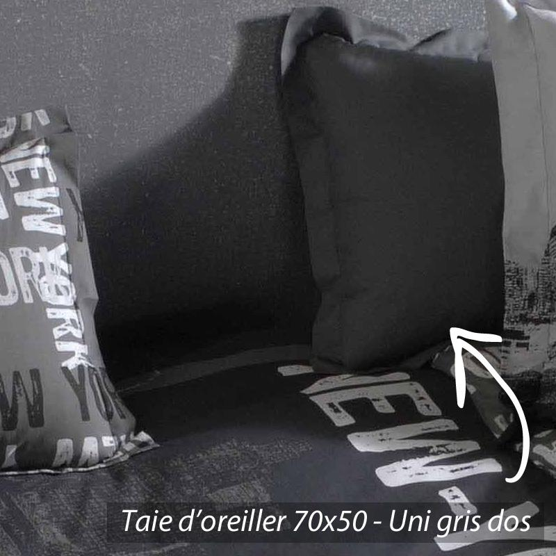 taie d 39 oreiller 70x50 cm new york linnea vente de linge de maison. Black Bedroom Furniture Sets. Home Design Ideas
