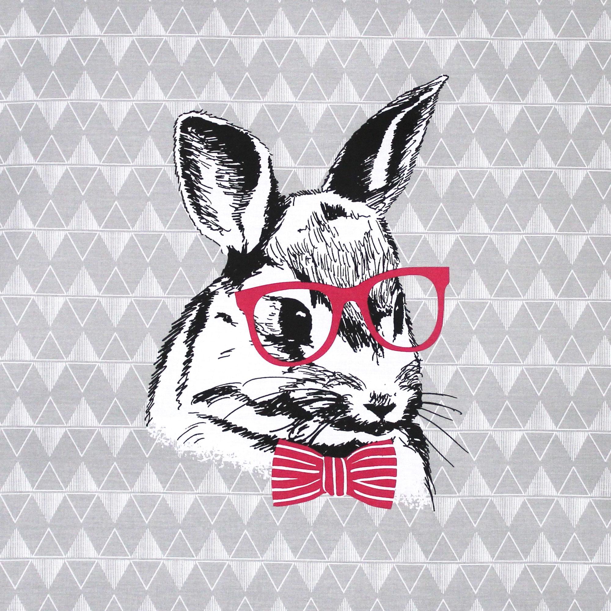 taie d 39 oreiller 65x65 cm 100 coton bunny linnea linge de maison et. Black Bedroom Furniture Sets. Home Design Ideas