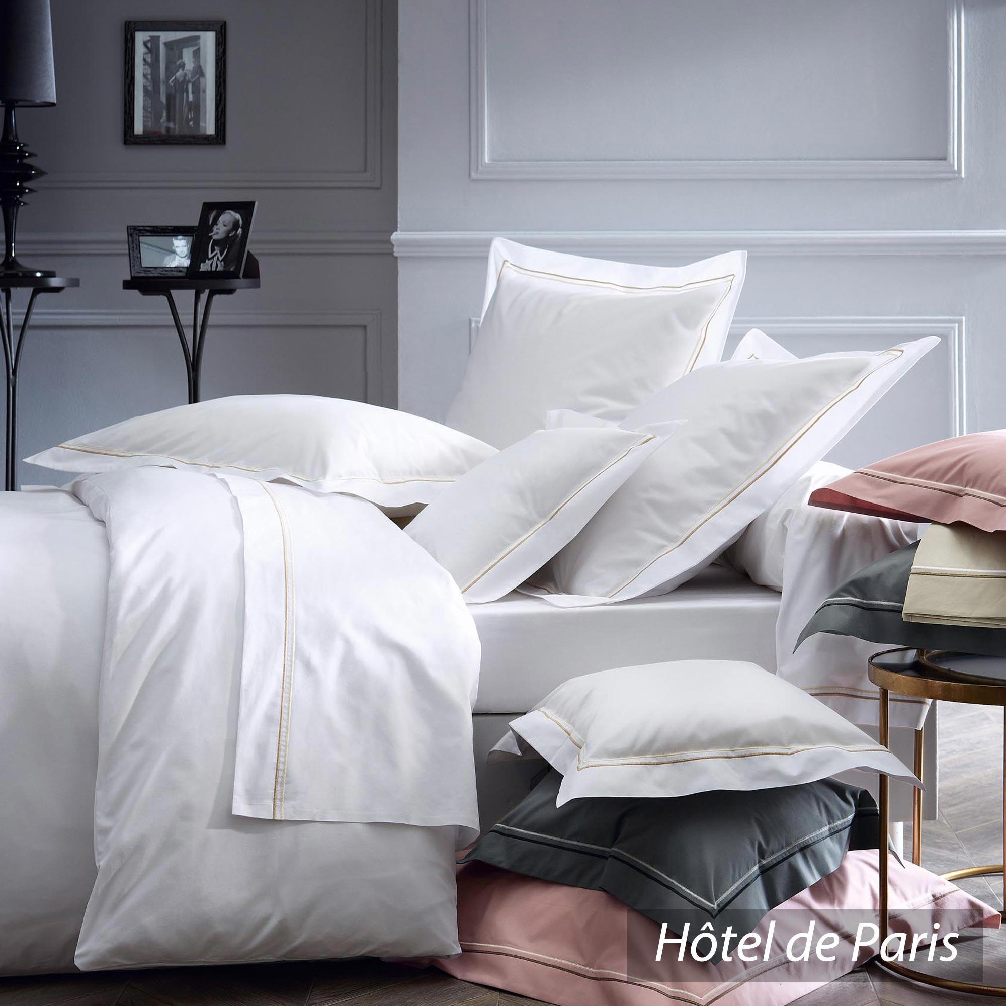 Taie d 39 oreiller percale uni pur coton peign 40x40 cm for Hotel destockage