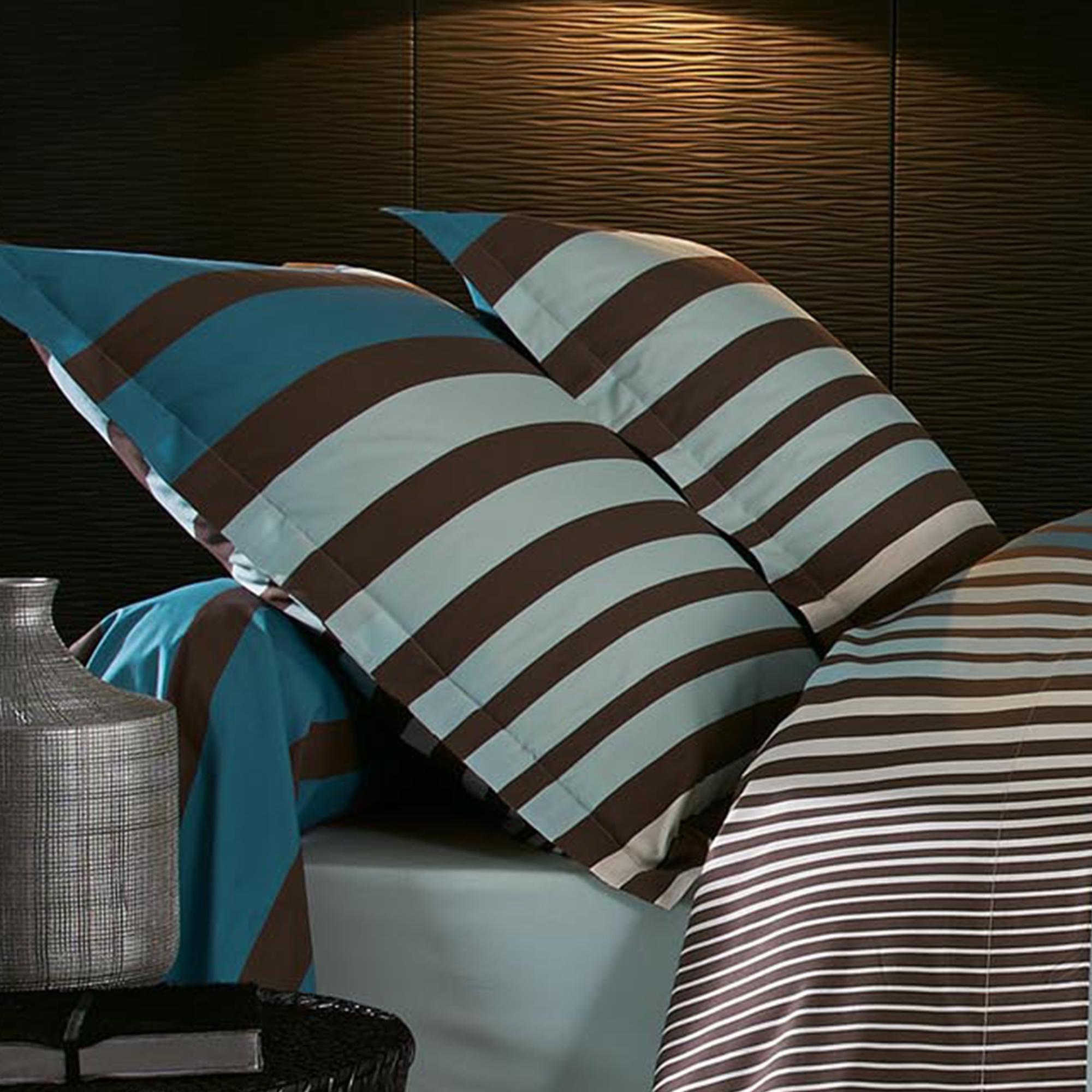 Taie d 39 oreiller percale pur coton peign 65x65 cm stripe - Taie d oreiller 65x65 ...