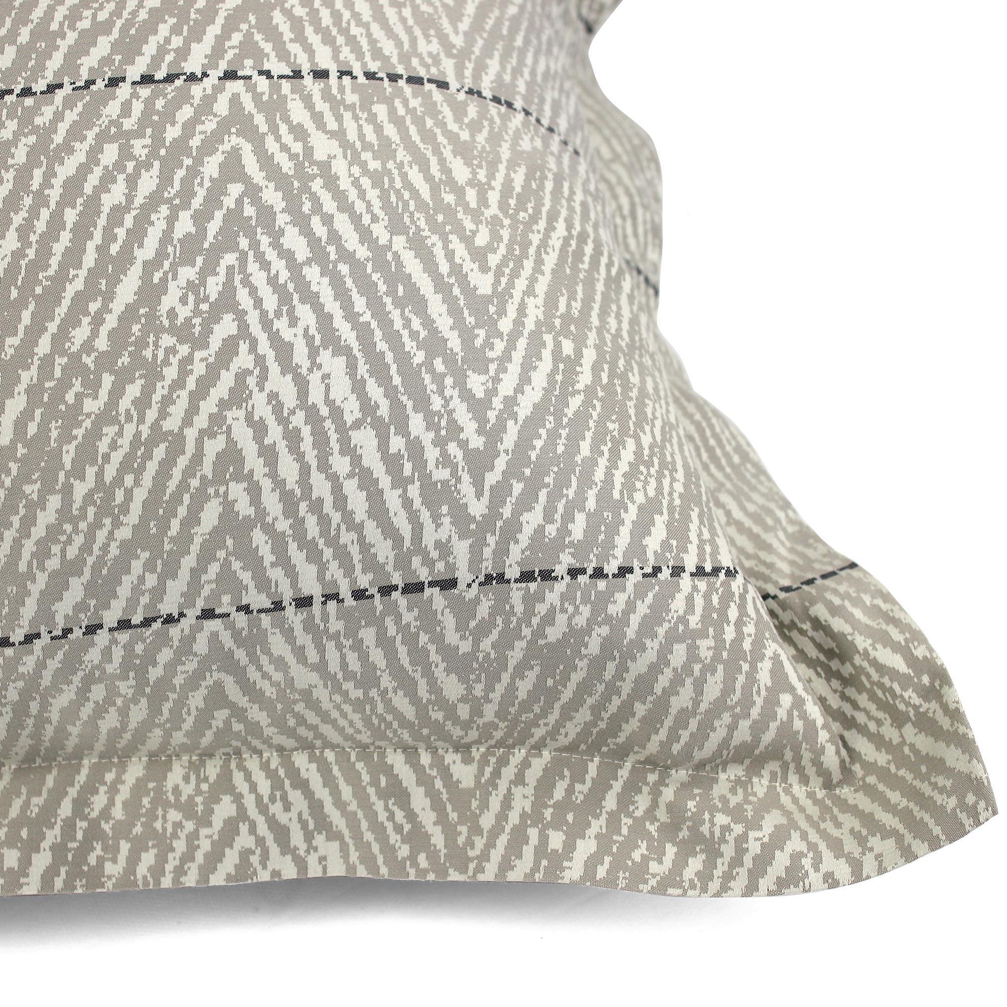 taie d 39 oreiller 65x65 satin de coton odeon marron clair ebay. Black Bedroom Furniture Sets. Home Design Ideas