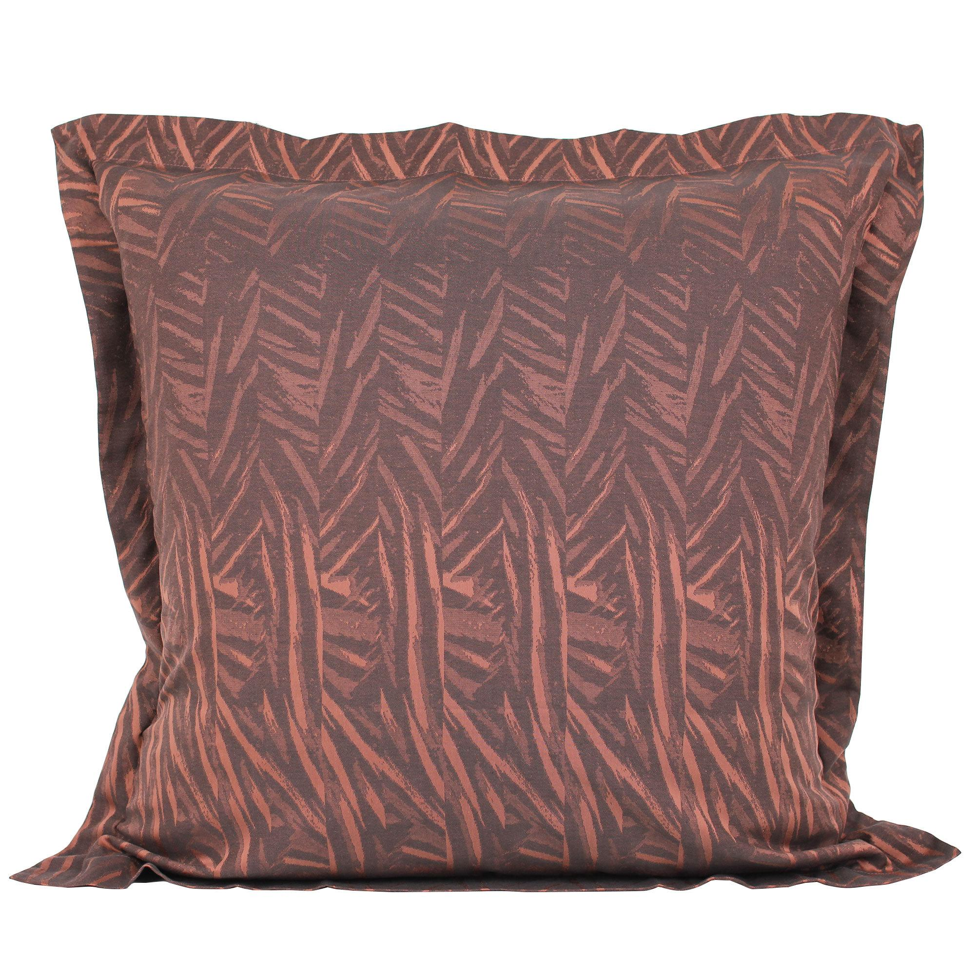 taie d 39 oreiller 65x65 satin de coton opera marron fonc ebay. Black Bedroom Furniture Sets. Home Design Ideas