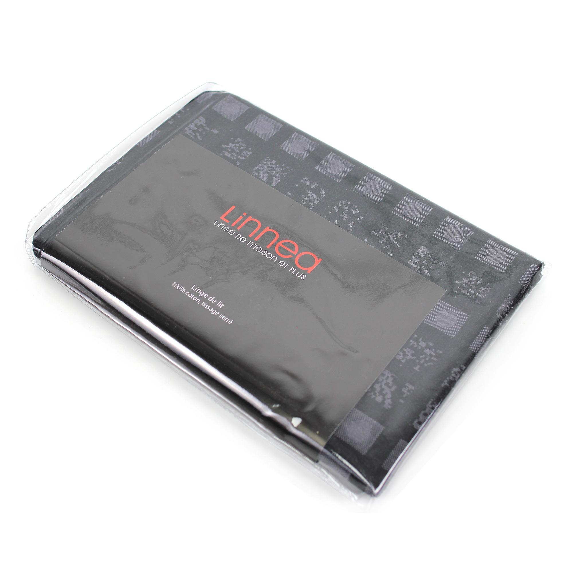 taie d 39 oreiller 65x65 satin de coton trocadero gris anthracite ebay. Black Bedroom Furniture Sets. Home Design Ideas