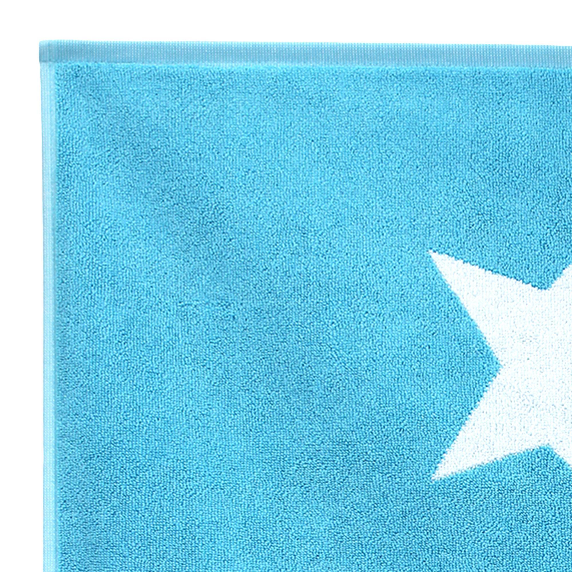 tapis de bain 50x70 cm coton stars bleu turquoise linnea. Black Bedroom Furniture Sets. Home Design Ideas