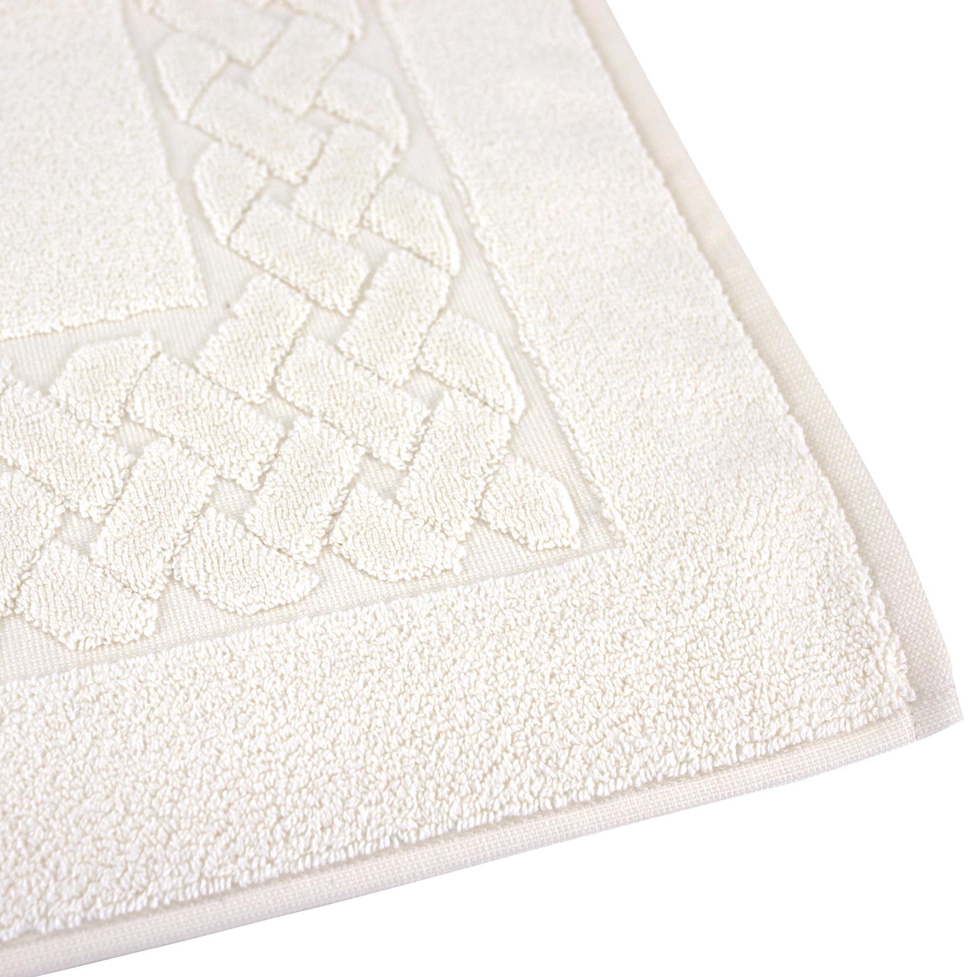 tapis de bain 50x80 royal cresent blanc cr me 850g m2 ebay. Black Bedroom Furniture Sets. Home Design Ideas