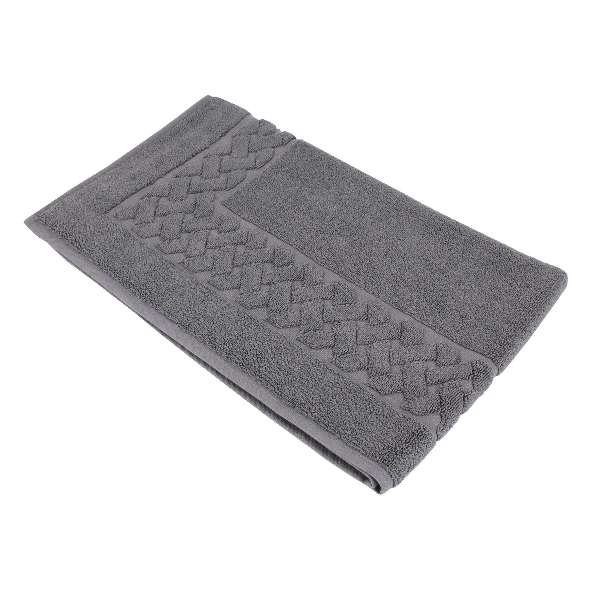 tapis de bain 50x80 royal cresent gris acier 850g m2 ebay. Black Bedroom Furniture Sets. Home Design Ideas