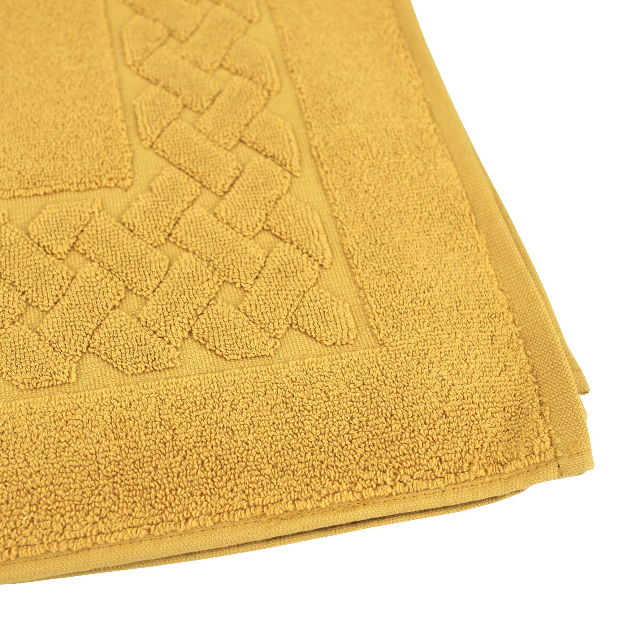 tapis de bain 50x80 coton uni royal cresent jaune quartz. Black Bedroom Furniture Sets. Home Design Ideas