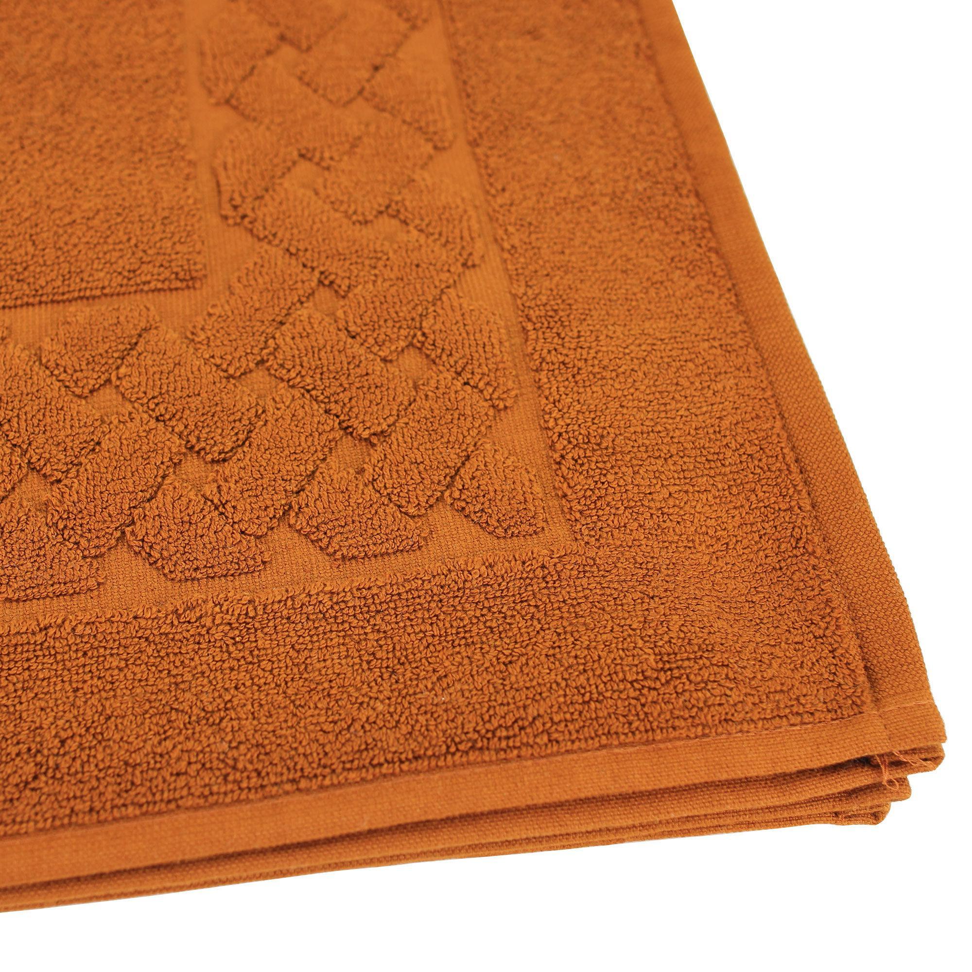 tapis de bain 50x80 coton uni royal cresent jaune topaze linnea linge de maison et. Black Bedroom Furniture Sets. Home Design Ideas