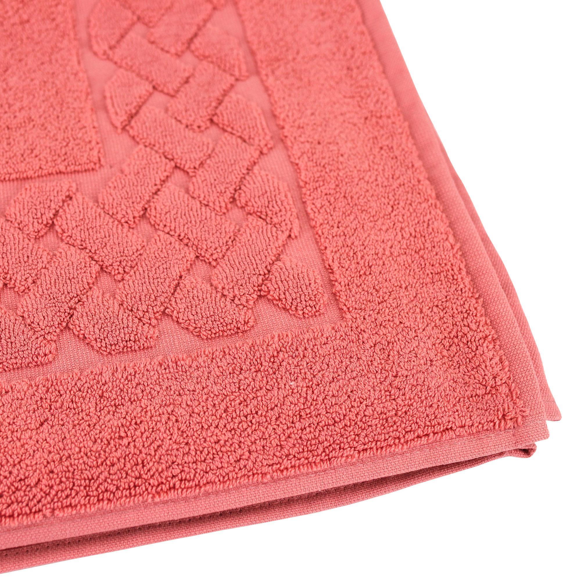 tapis de bain 50x80 coton uni royal cresent rouge terre. Black Bedroom Furniture Sets. Home Design Ideas