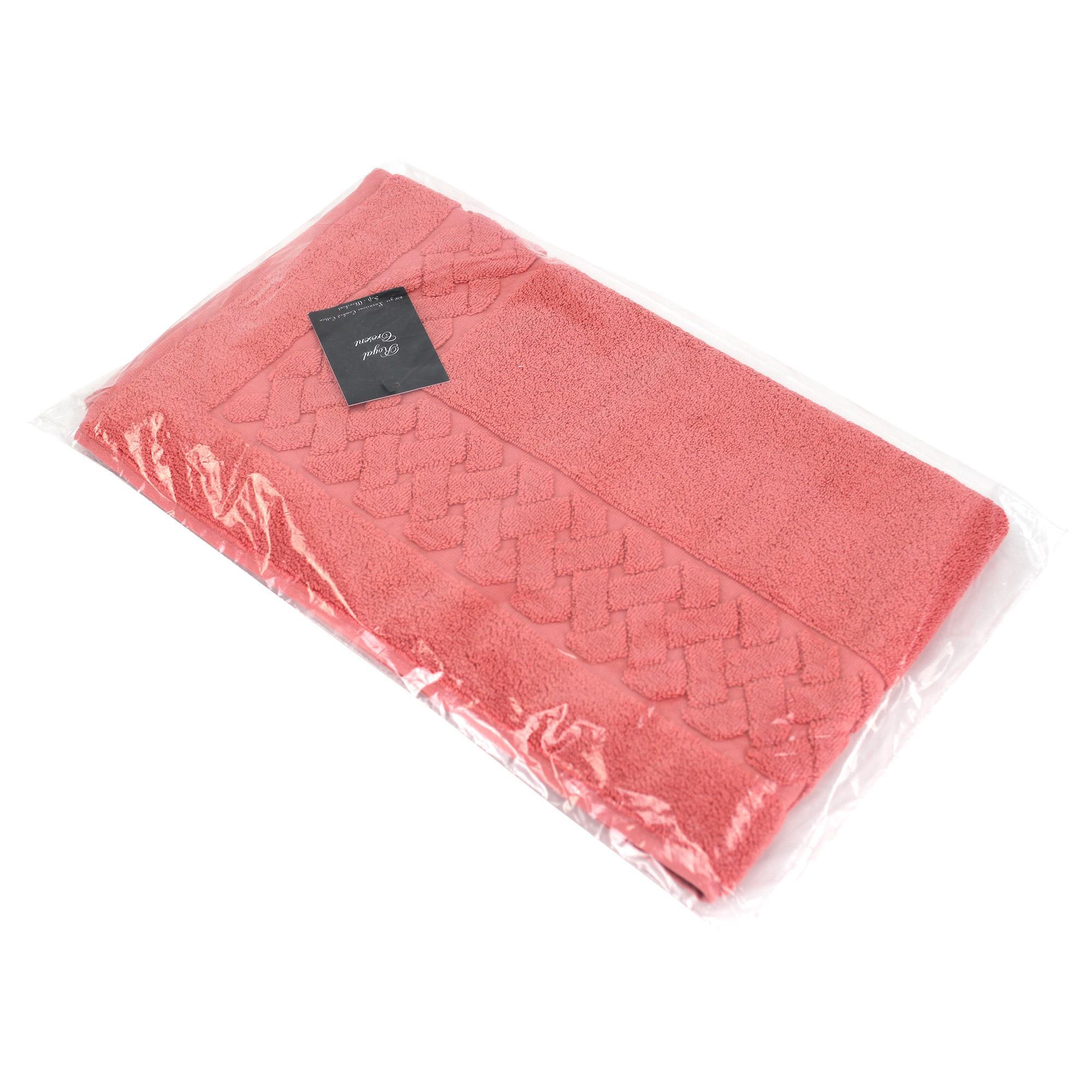 Tapis de bain 50x80 cm royal cresent rouge terre cuite 850 for Tapis salle de bain rouge