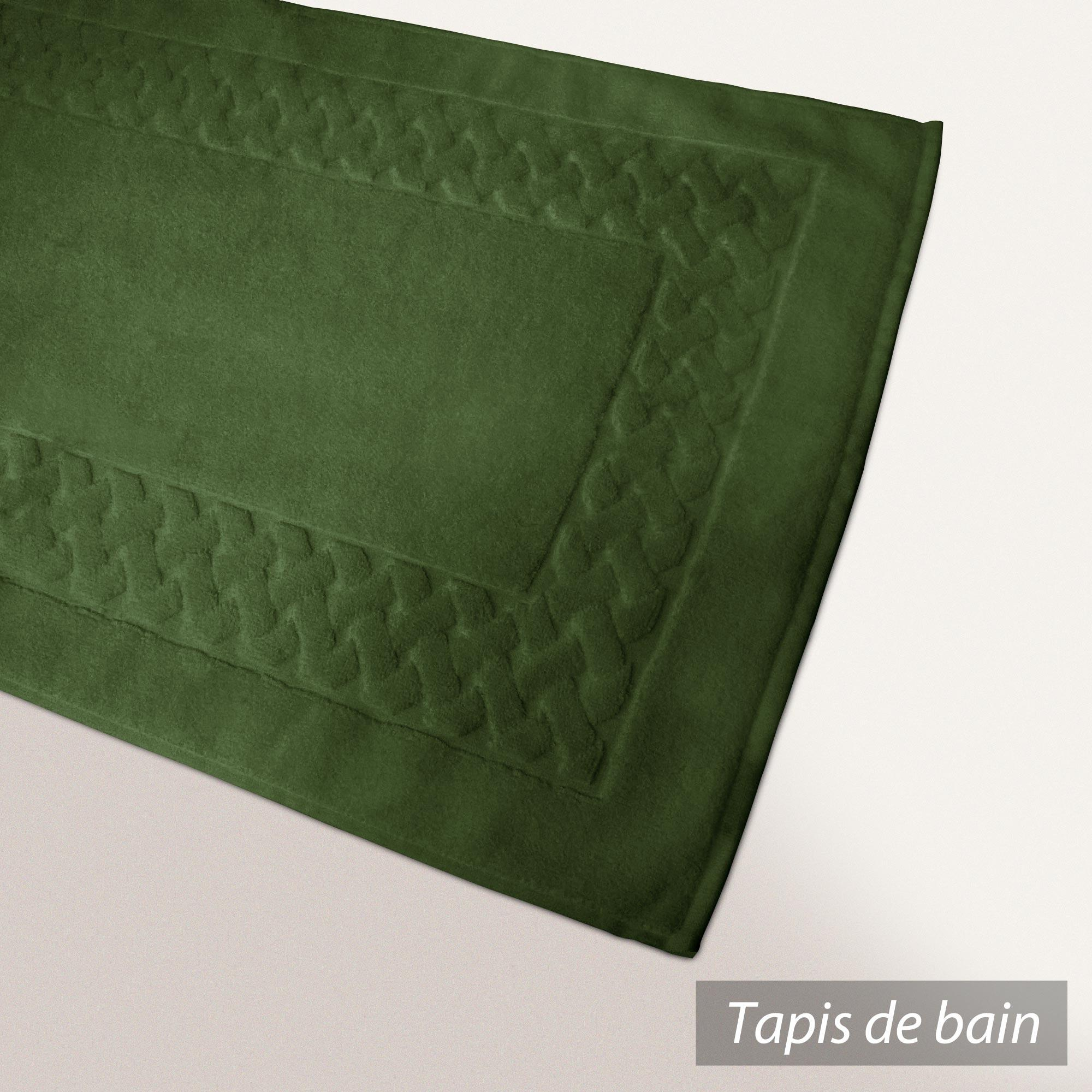 tapis de bain 50x80 coton uni royal cresent vert bouteille. Black Bedroom Furniture Sets. Home Design Ideas
