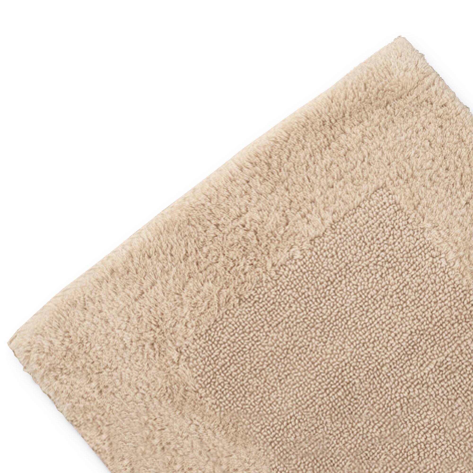 Tapis de bain 60x60cm uni coton Luxor marron beige ...