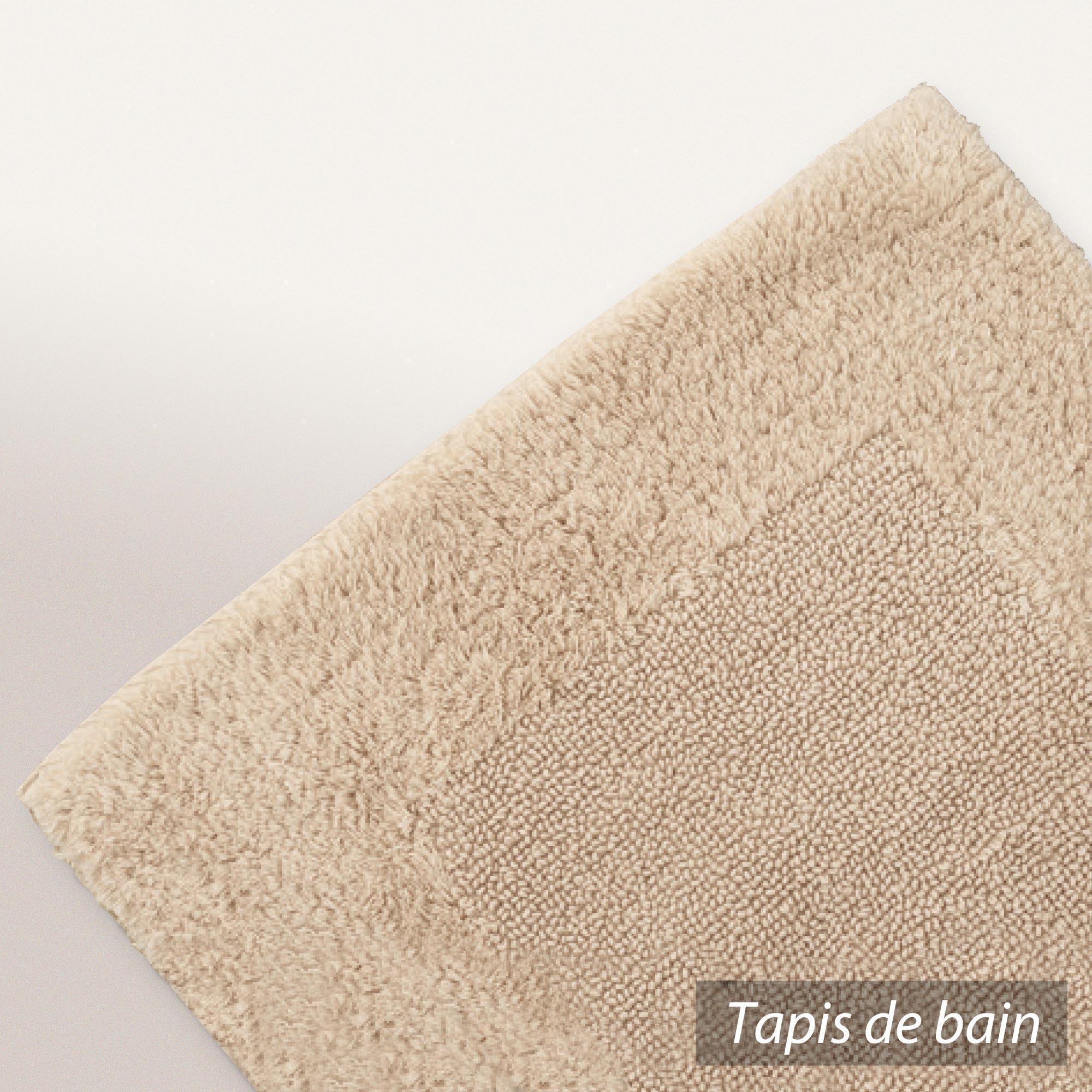 tapis de bain 60x60 cm luxor beige 2000 g m2. Black Bedroom Furniture Sets. Home Design Ideas