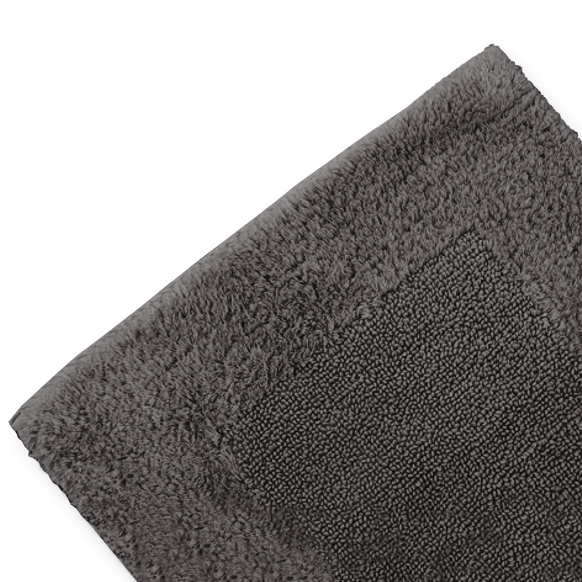 tapis de bain 60x90cm uni coton luxor gris anthracite. Black Bedroom Furniture Sets. Home Design Ideas