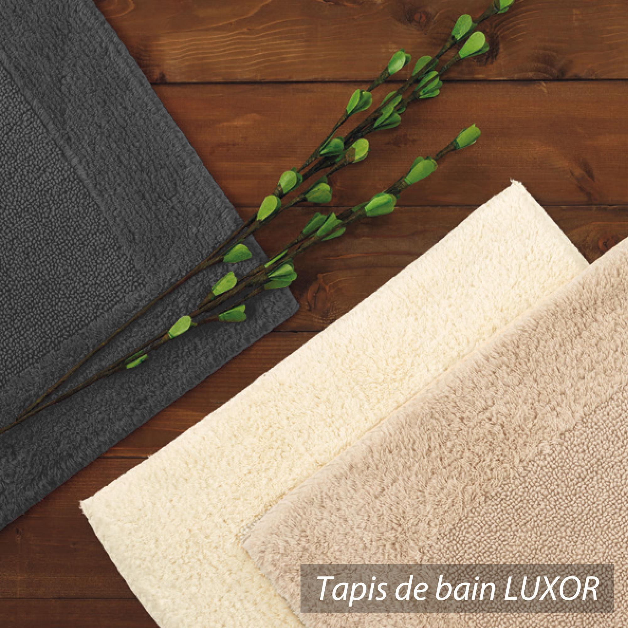 tapis de bain 60x90 luxor beige 2000g m2 ebay. Black Bedroom Furniture Sets. Home Design Ideas