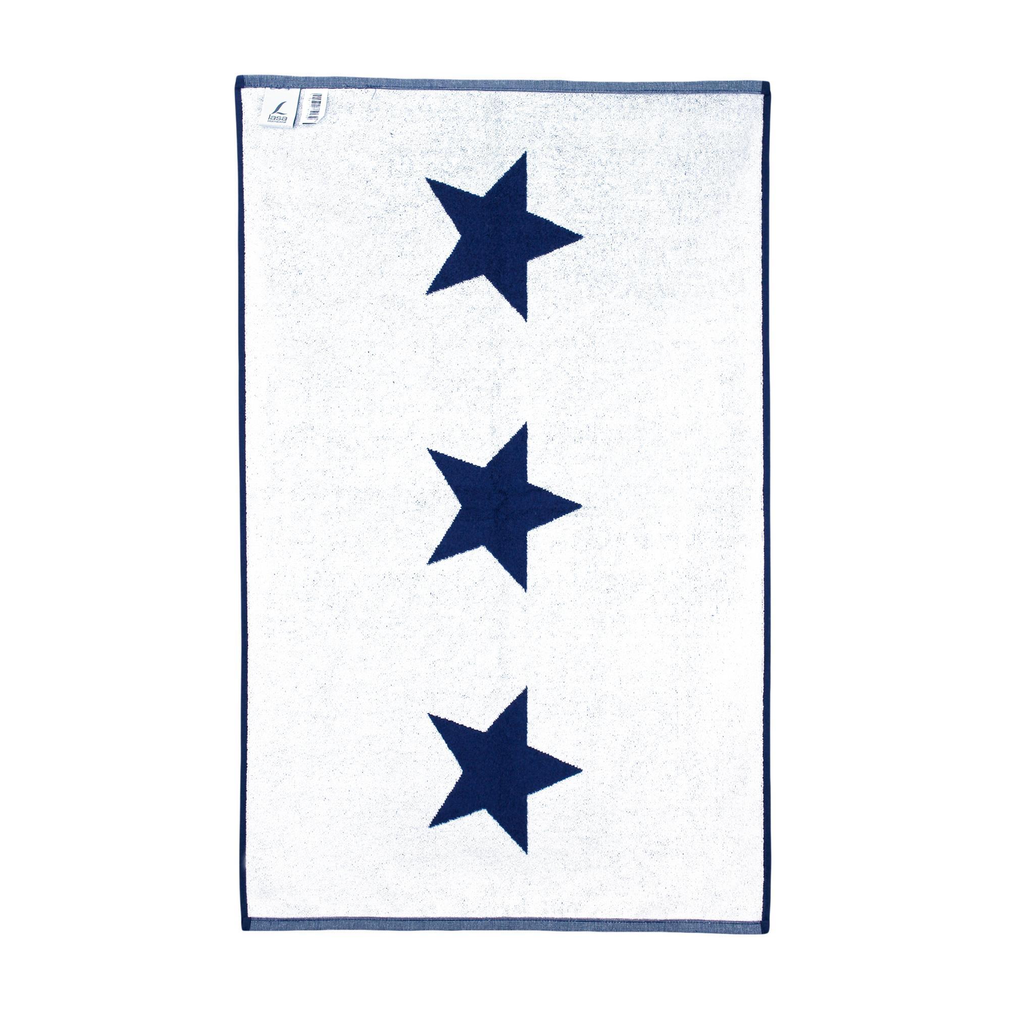 tapis de bain 60x90 cm coton stars bleu marine linnea vente de linge de maison. Black Bedroom Furniture Sets. Home Design Ideas