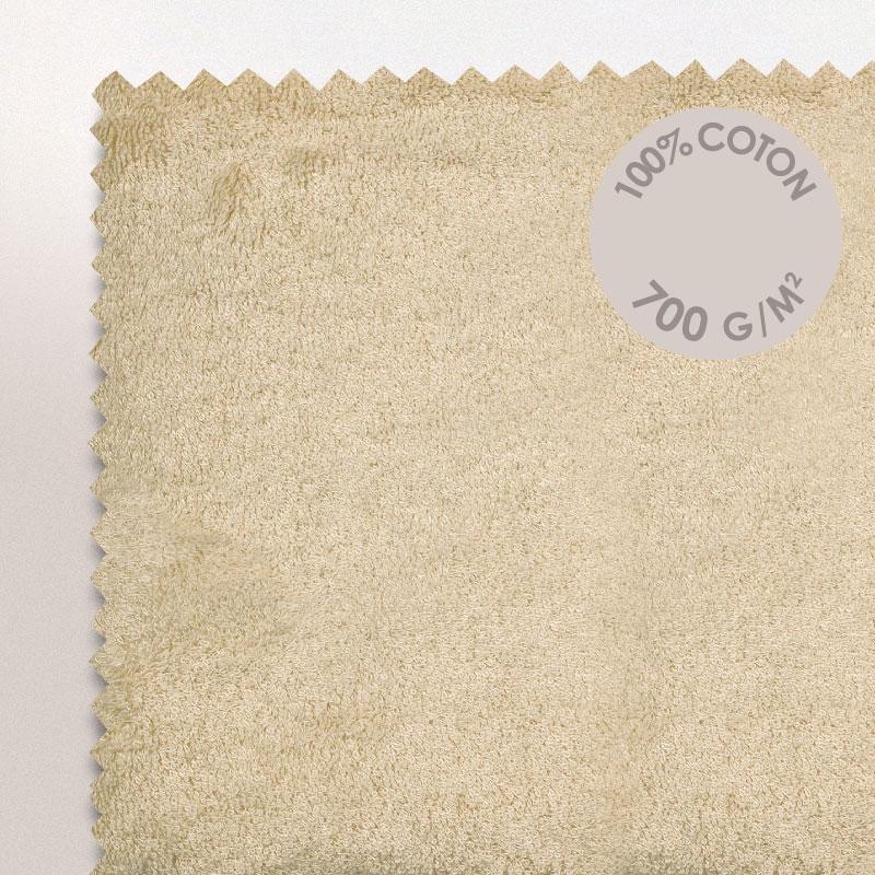 tapis de bain 50x70cm coton uni pure beige linnea linge de maison et. Black Bedroom Furniture Sets. Home Design Ideas