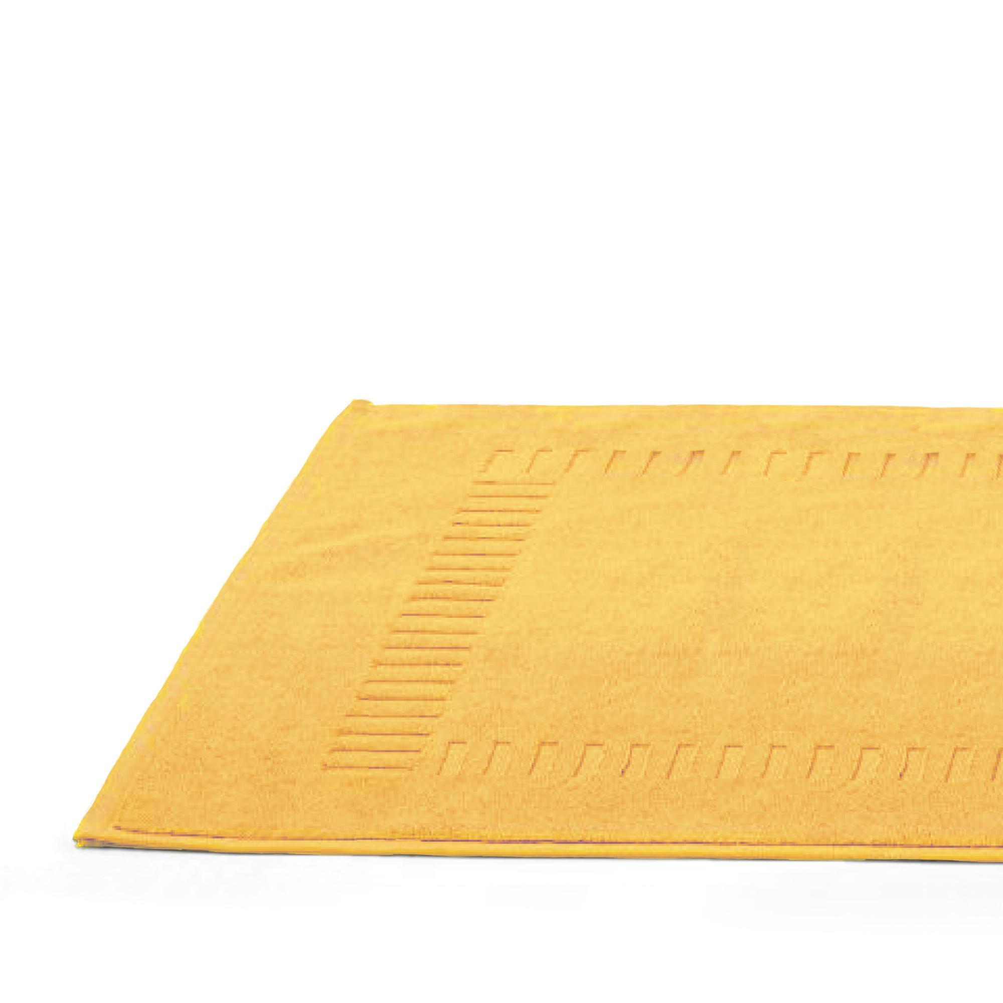 tapis de bain 50x70cm coton uni pure jaune linnea linge de maison et. Black Bedroom Furniture Sets. Home Design Ideas