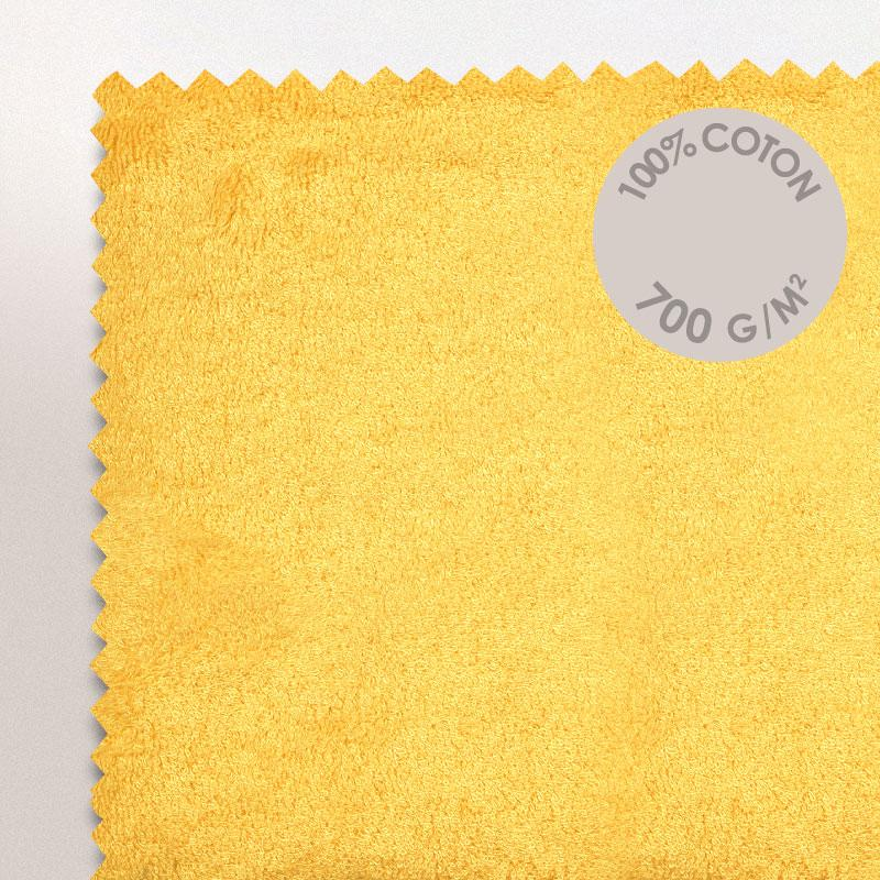 tapis de bain 50x70cm coton uni pure jaune linnea vente de linge de maison. Black Bedroom Furniture Sets. Home Design Ideas