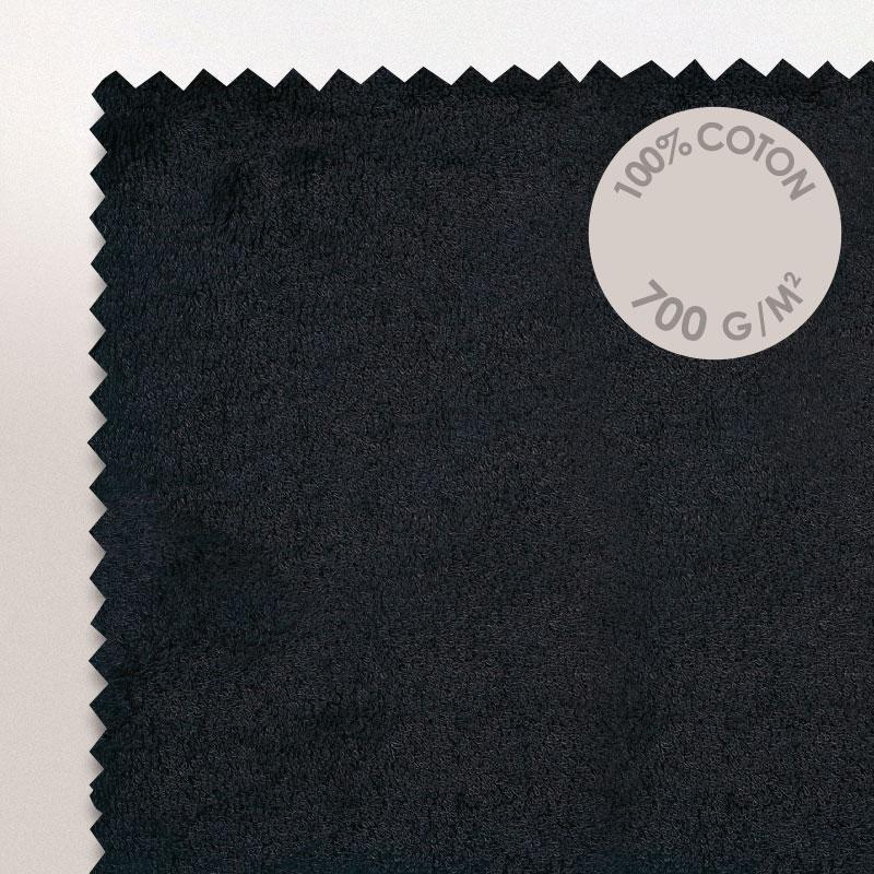 tapis de bain 50x70cm coton uni pure noir linnea linge de maison et. Black Bedroom Furniture Sets. Home Design Ideas