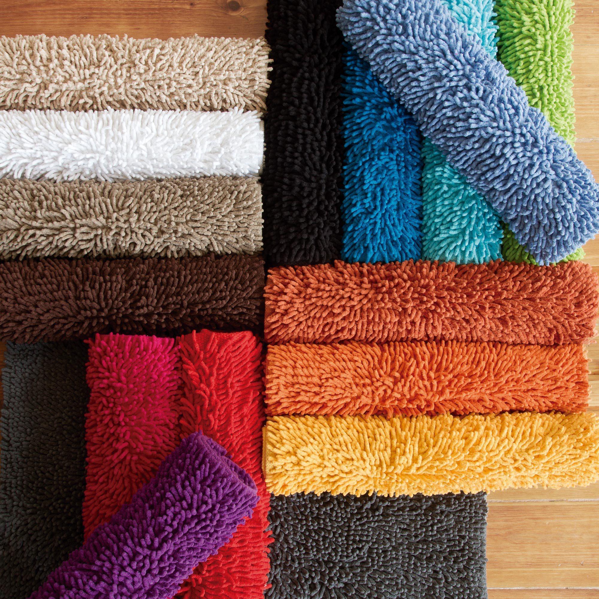 tapis de bain 50x80cm uni coton chenille jaune linnea linge de maison et. Black Bedroom Furniture Sets. Home Design Ideas