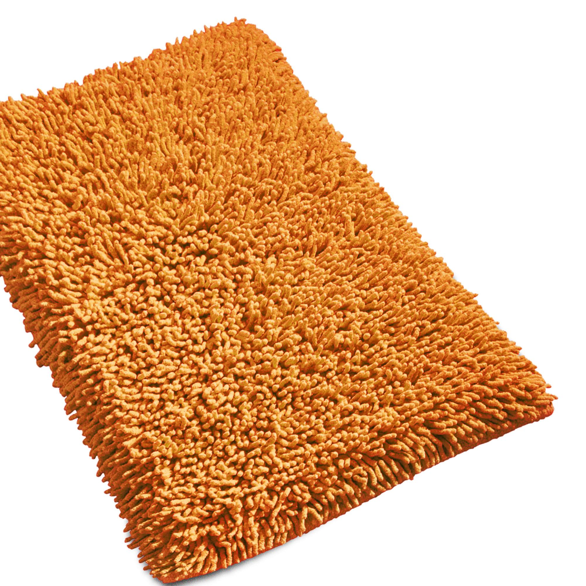 tapis de bain 50x80 chenille orange 1800g m2 ebay. Black Bedroom Furniture Sets. Home Design Ideas