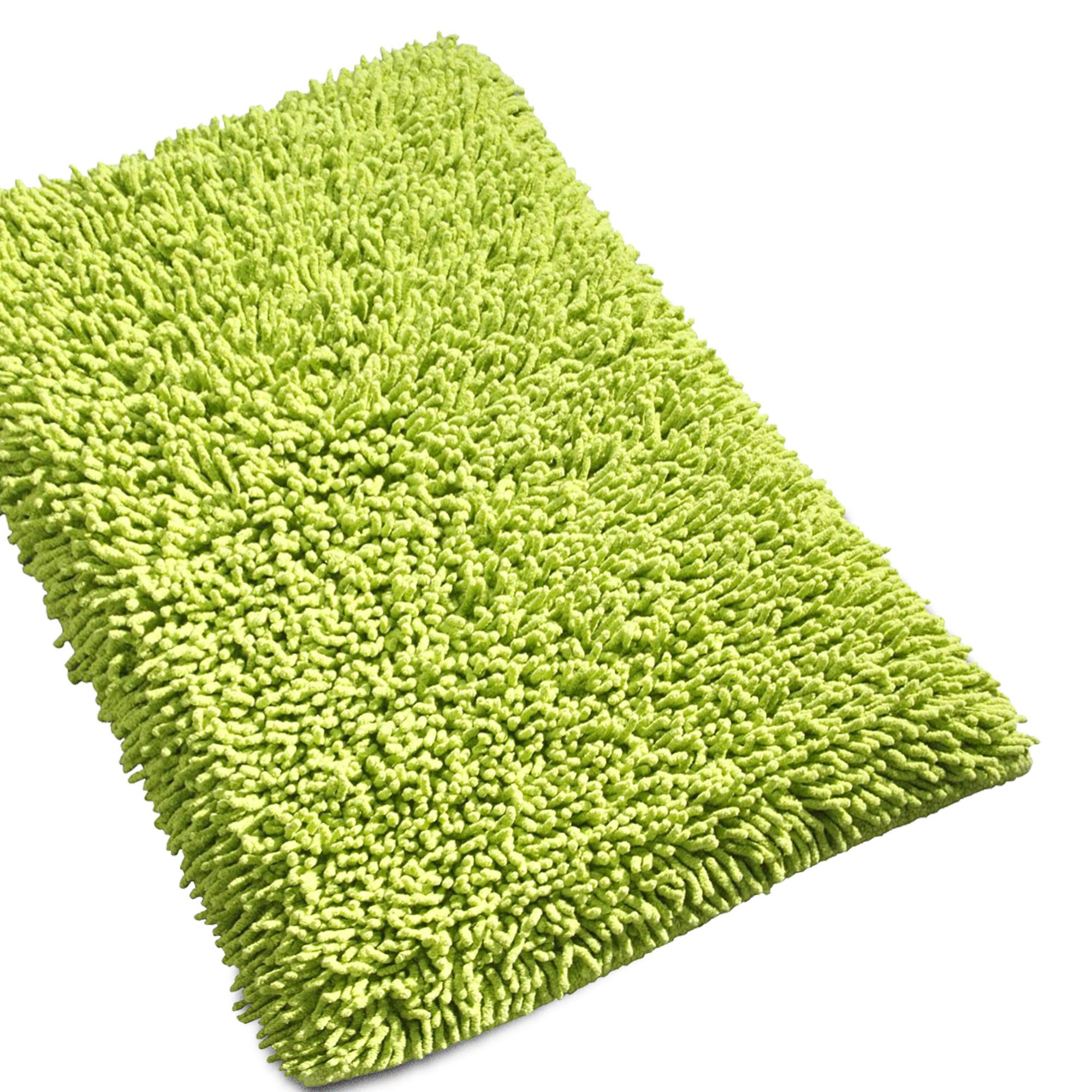 tapis de bain 50x80cm uni coton chenille pistache linnea linge de maison et. Black Bedroom Furniture Sets. Home Design Ideas