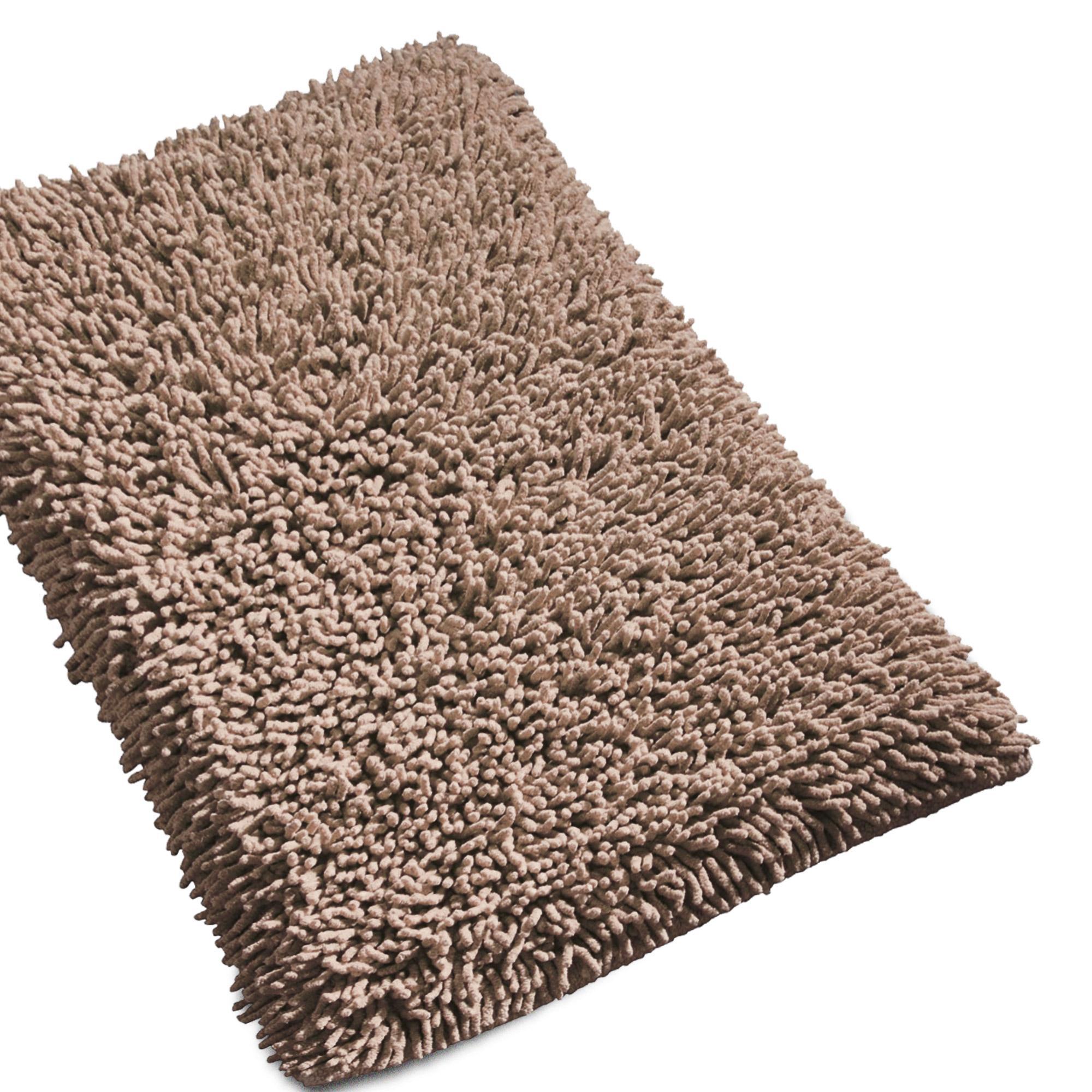 tapis de bain 50x80cm uni coton chenille taupe linnea linge de maison et. Black Bedroom Furniture Sets. Home Design Ideas