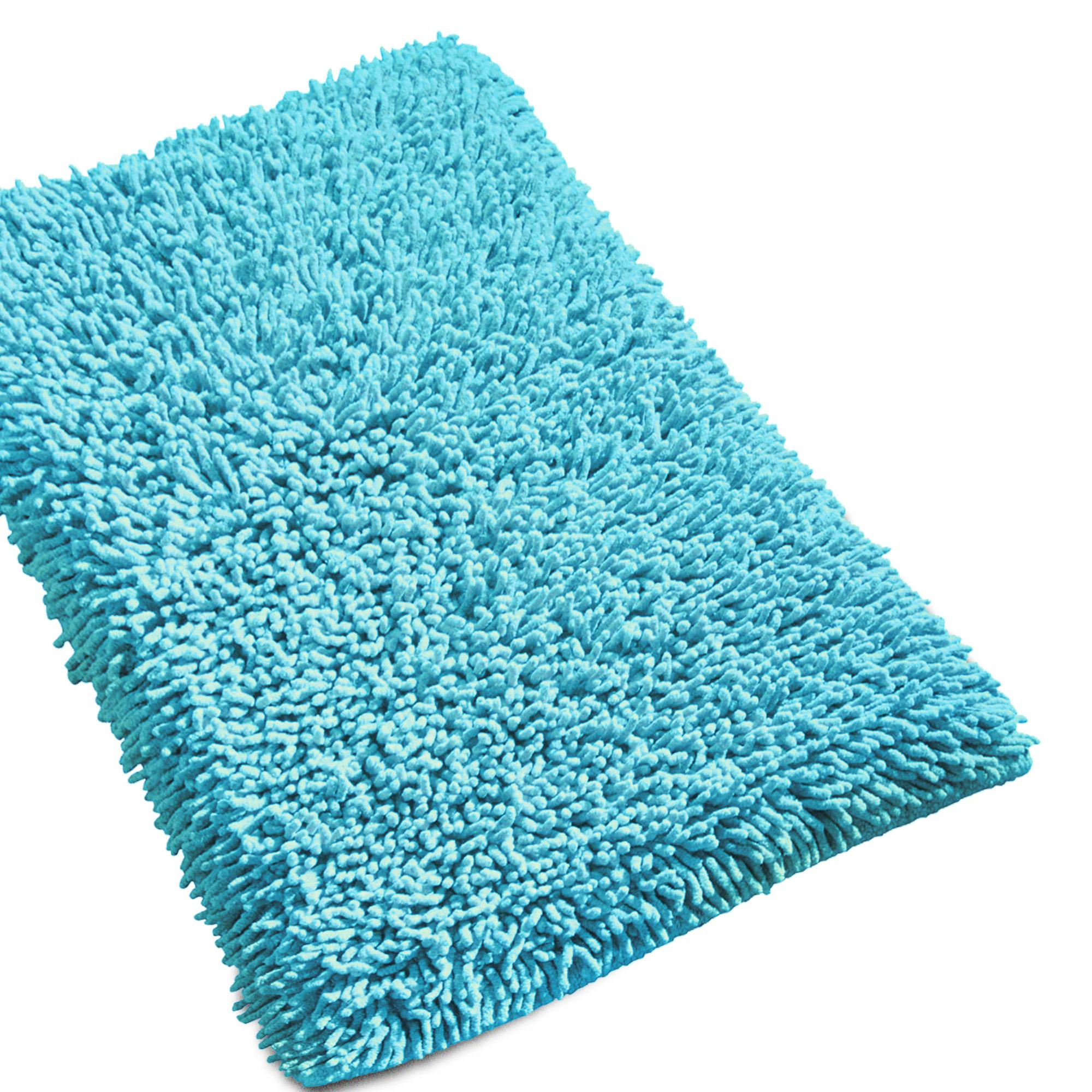 tapis de bain 50x80 chenille turquoise 1800g m2 ebay. Black Bedroom Furniture Sets. Home Design Ideas