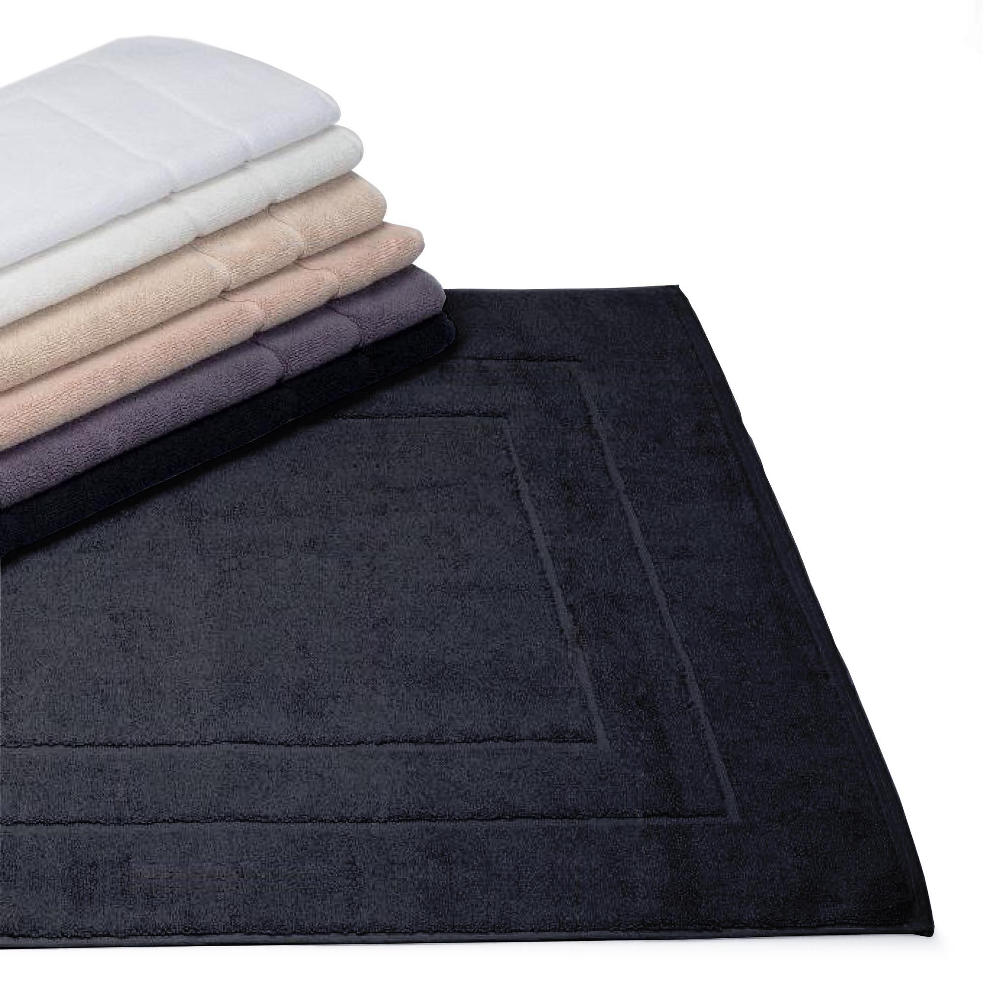 tapis de bain 60x100cm uni coton flair anthracite linnea vente de linge de maison. Black Bedroom Furniture Sets. Home Design Ideas