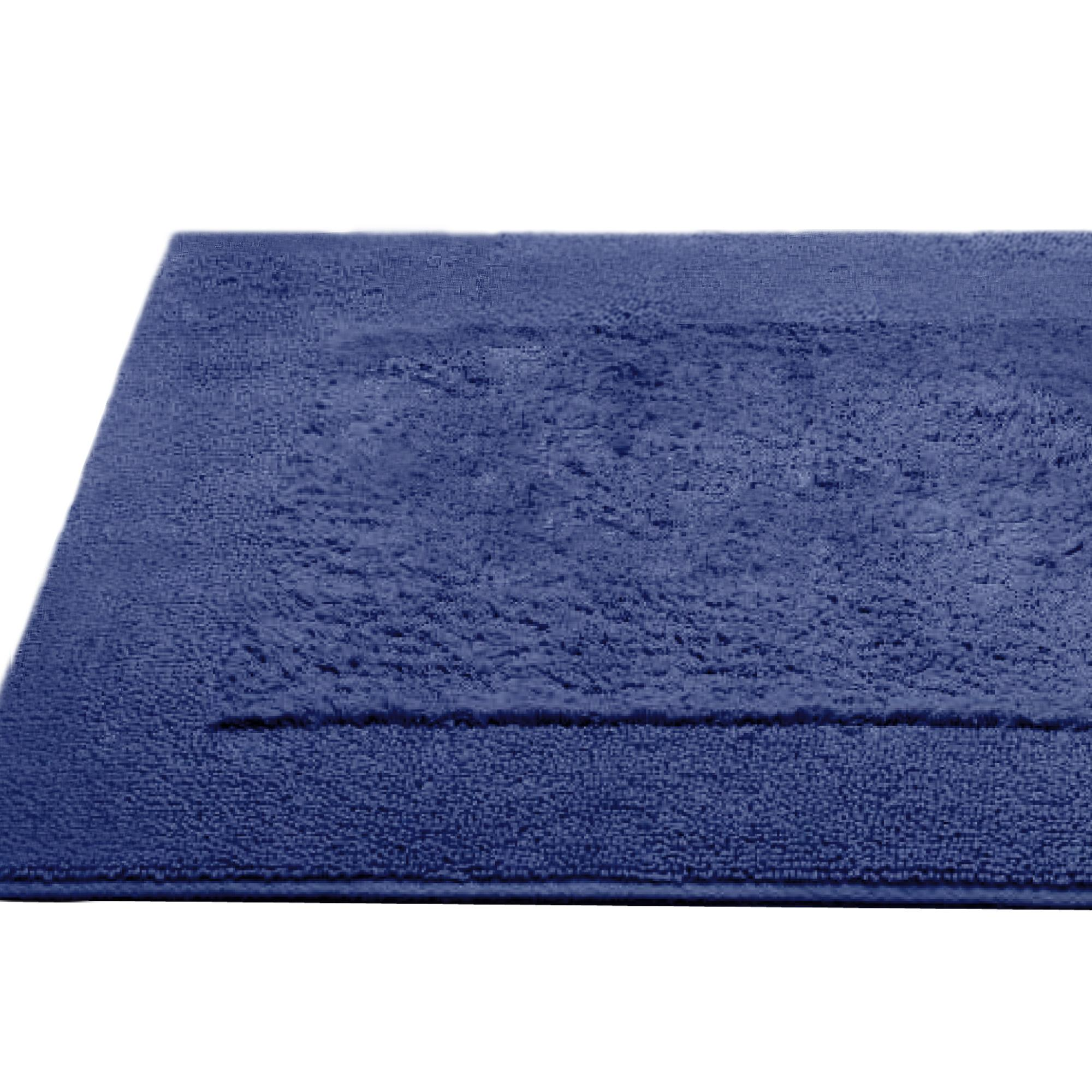 tapis de bain 60x60cm coton uni dream bleu royal linnea linge de maison et. Black Bedroom Furniture Sets. Home Design Ideas