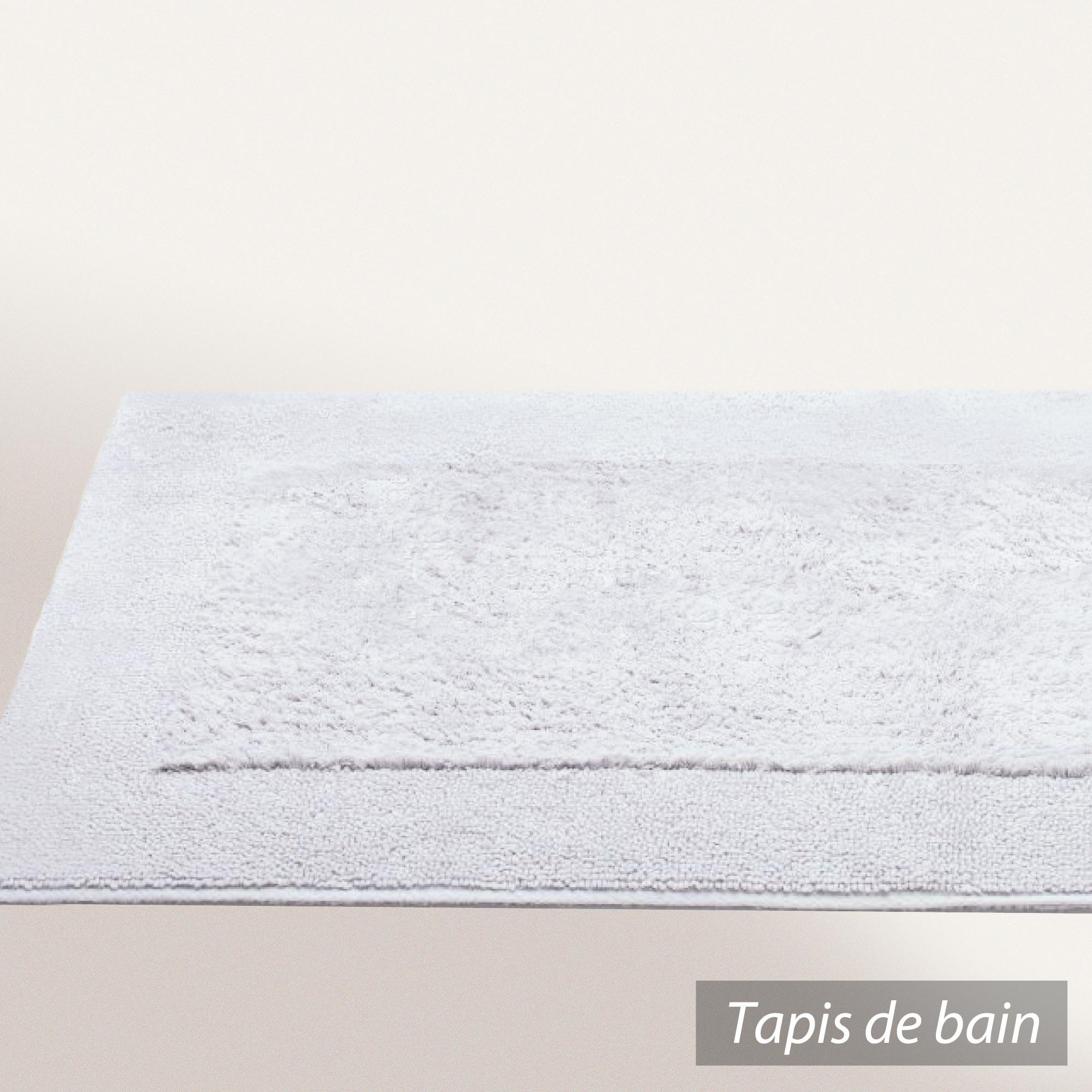 tapis de bain 60x90cm coton uni dream blanc linnea vente. Black Bedroom Furniture Sets. Home Design Ideas