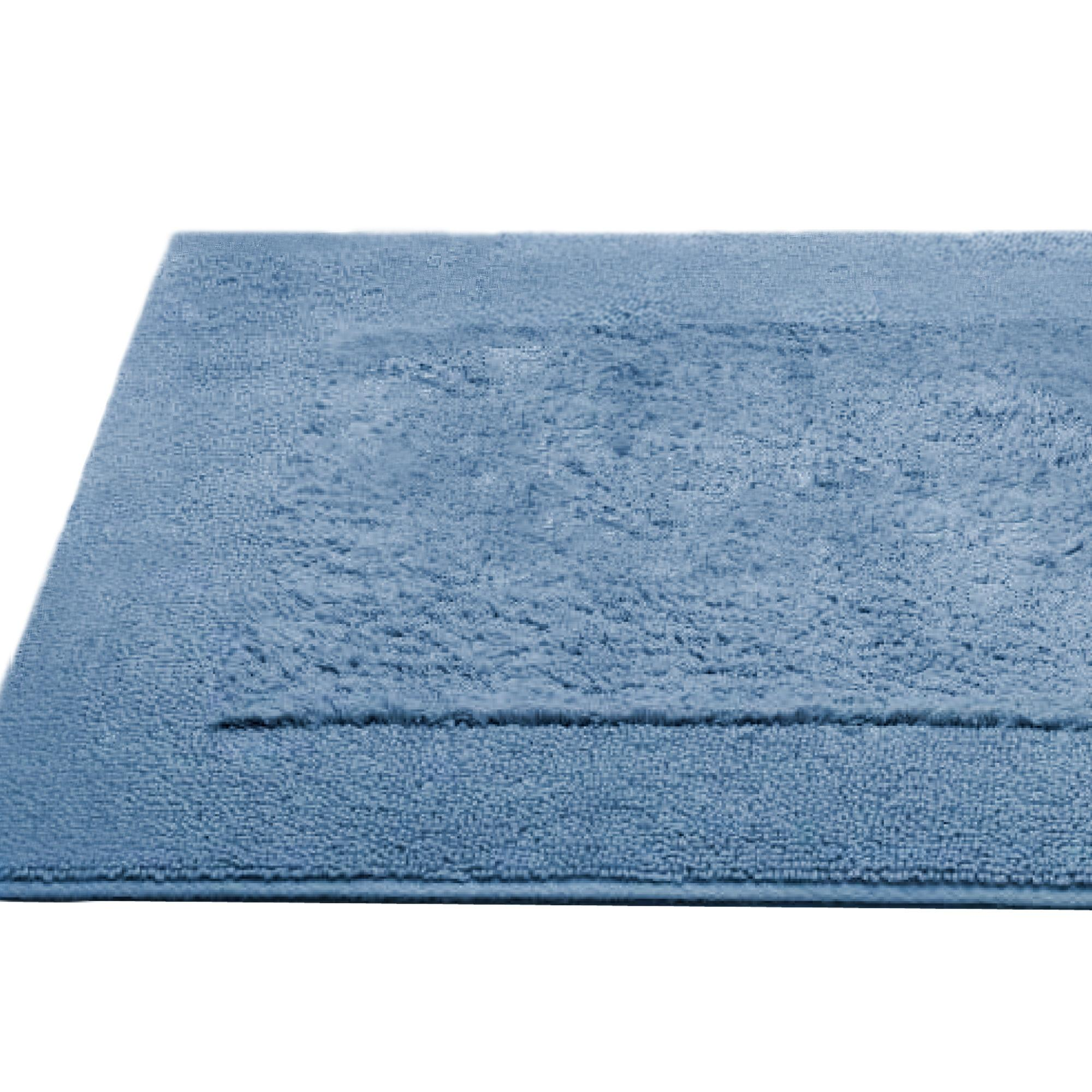 tapis de bain 60x90cm coton uni dream bleu gris linnea. Black Bedroom Furniture Sets. Home Design Ideas