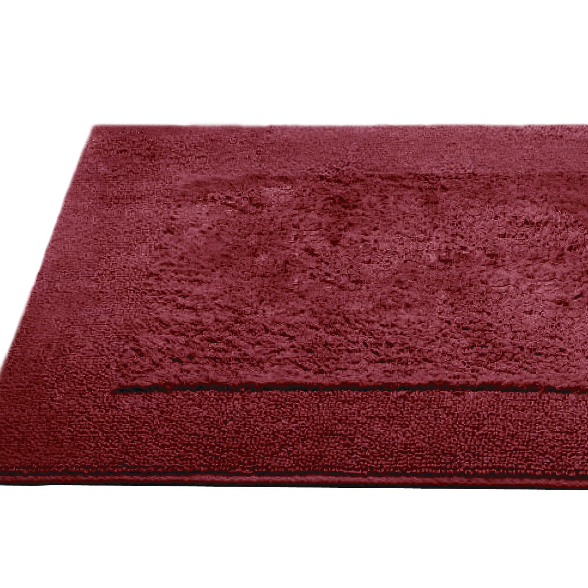 tapis de bain 60x90cm coton uni dream rouge bordeaux. Black Bedroom Furniture Sets. Home Design Ideas
