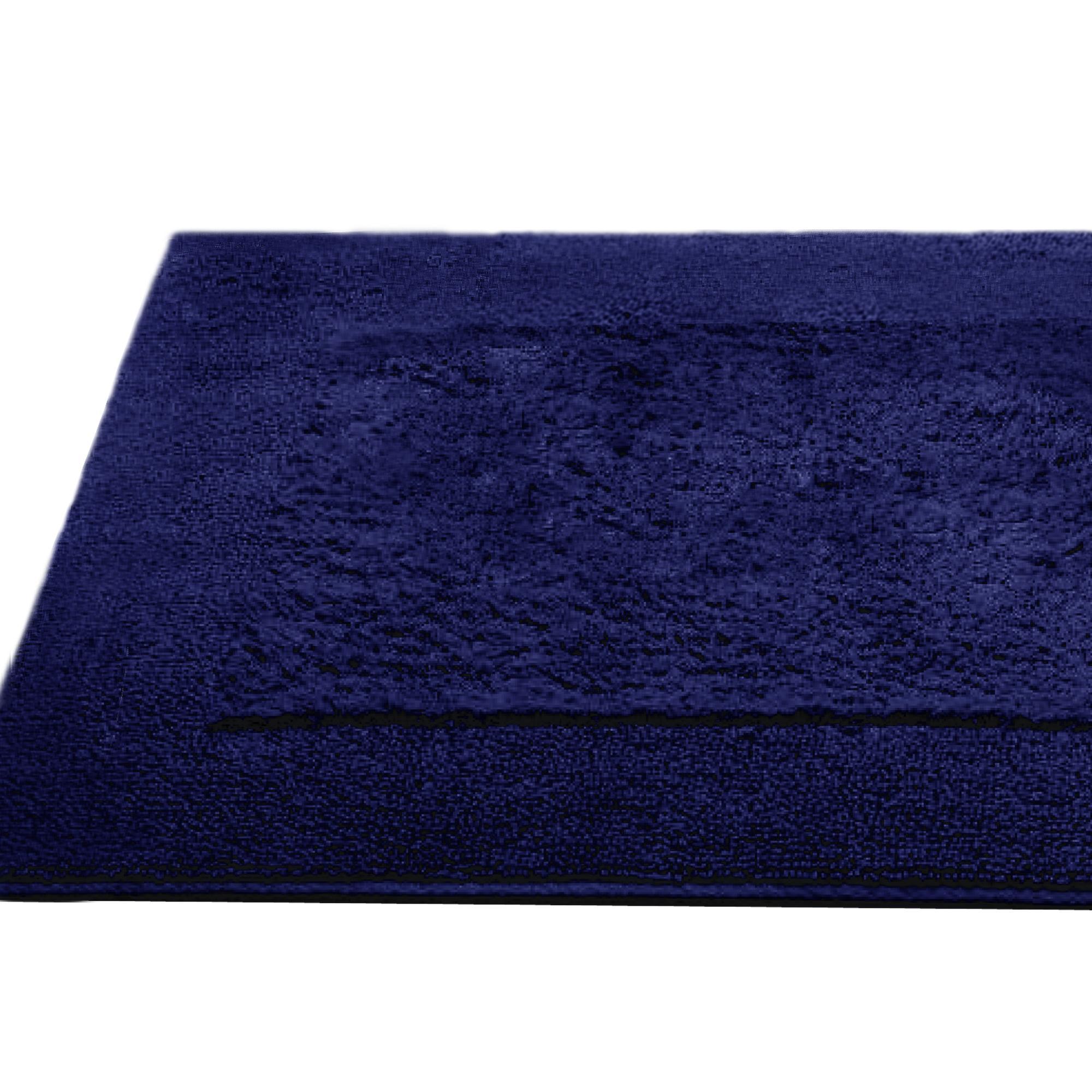 tapis de bain 70x120cm coton uni dream bleu marine linnea linge de maison et. Black Bedroom Furniture Sets. Home Design Ideas