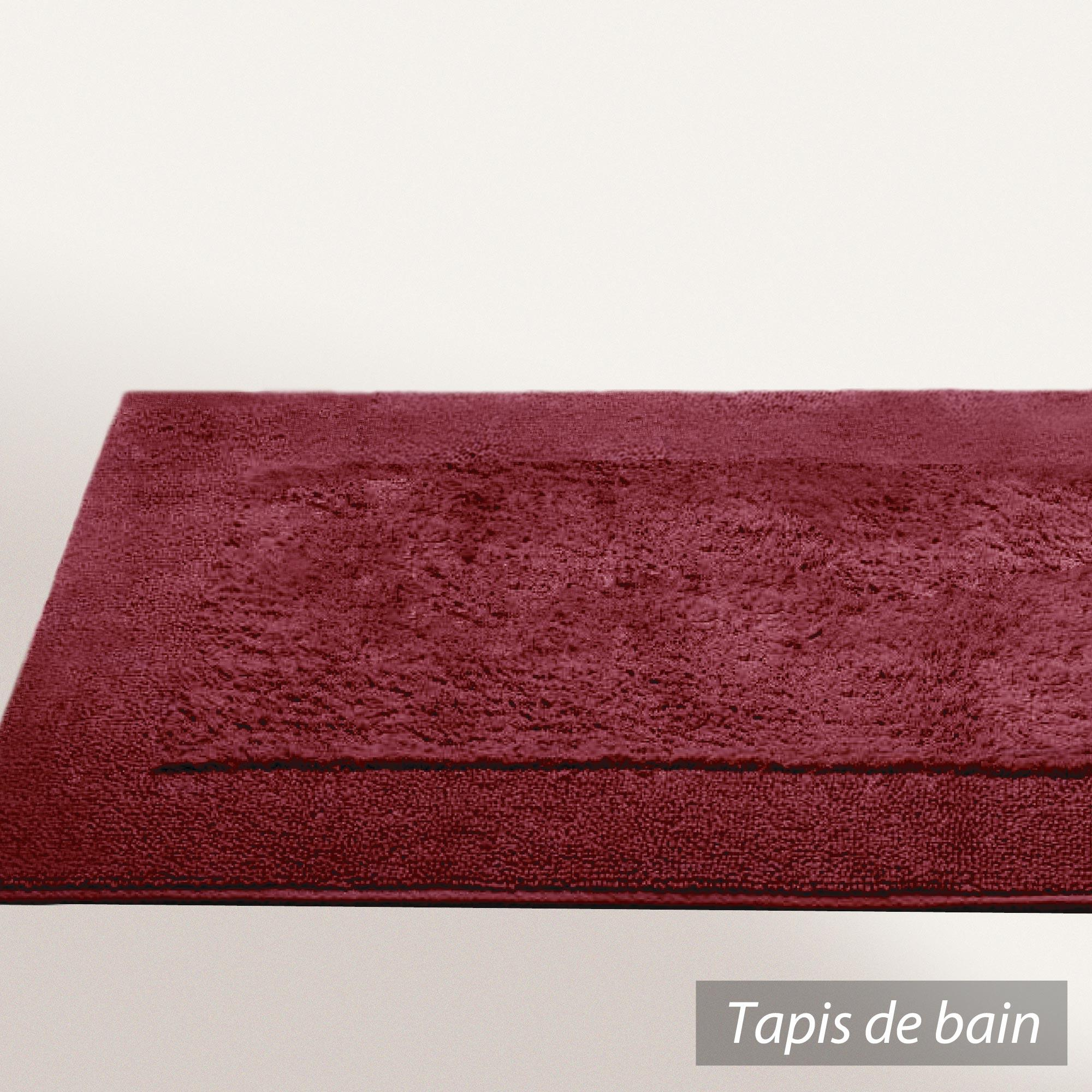 tapis de bain 70x120cm coton uni dream rouge bordeaux linnea vente de linge de maison. Black Bedroom Furniture Sets. Home Design Ideas