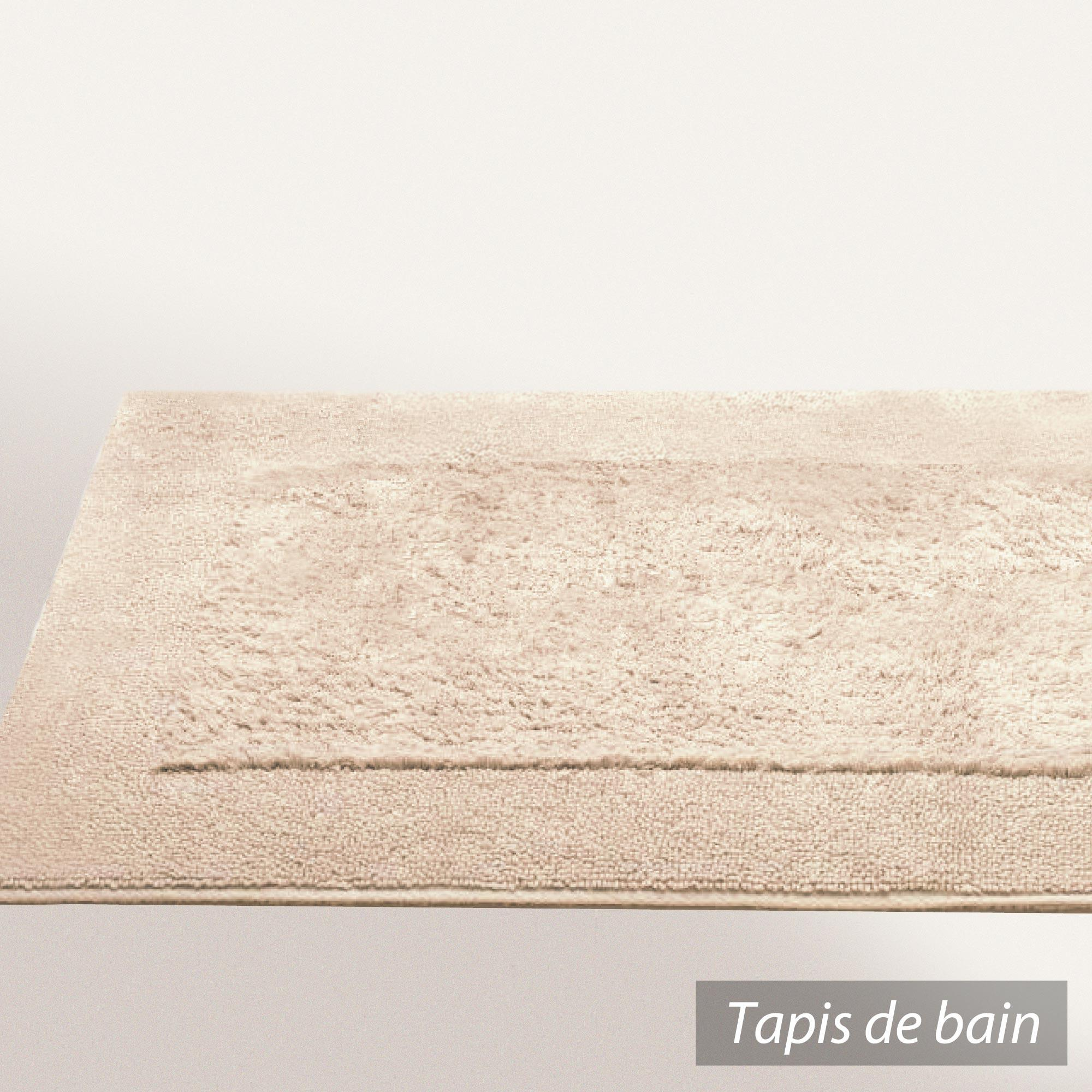 Tapis de bain 70x120cm coton uni dream marron sable - Tapis de bain formes originales ...