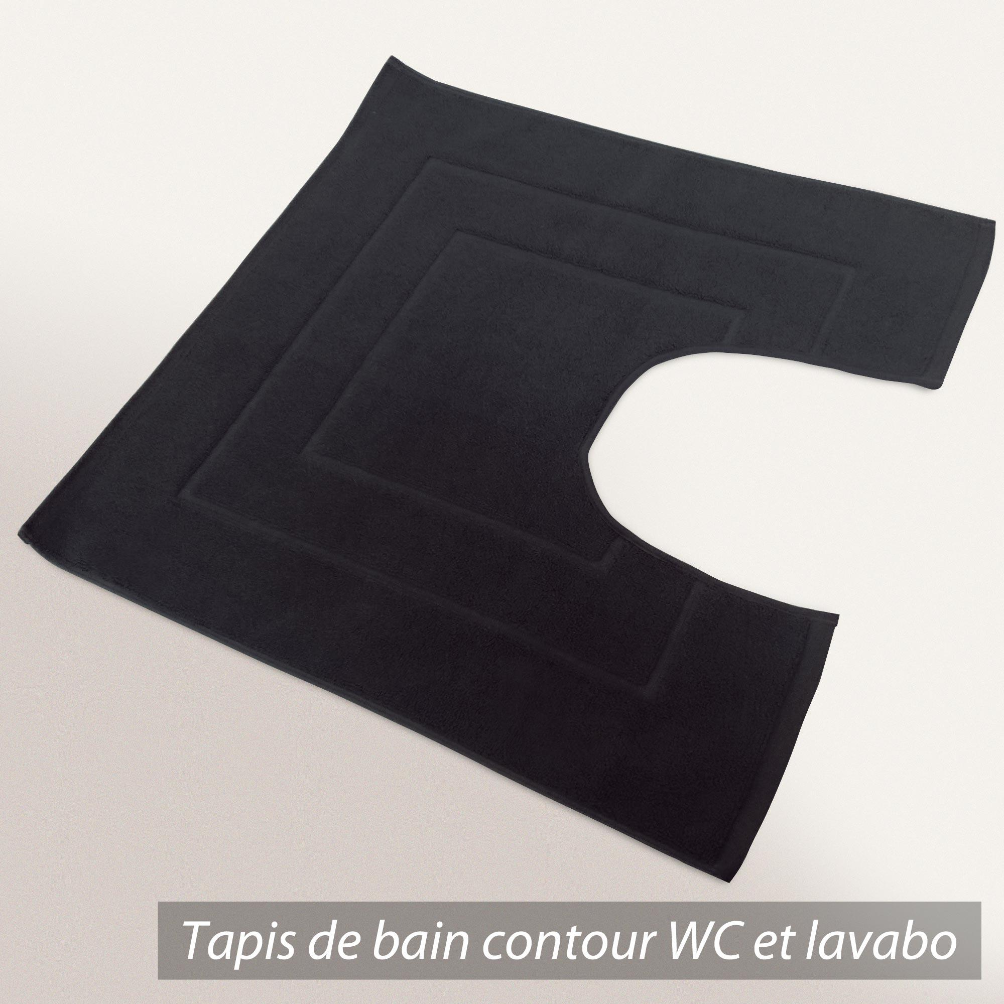 coton tapis de bain contour wc et lavabo 60x60 cm flair anthracite 1500 g m2. Black Bedroom Furniture Sets. Home Design Ideas