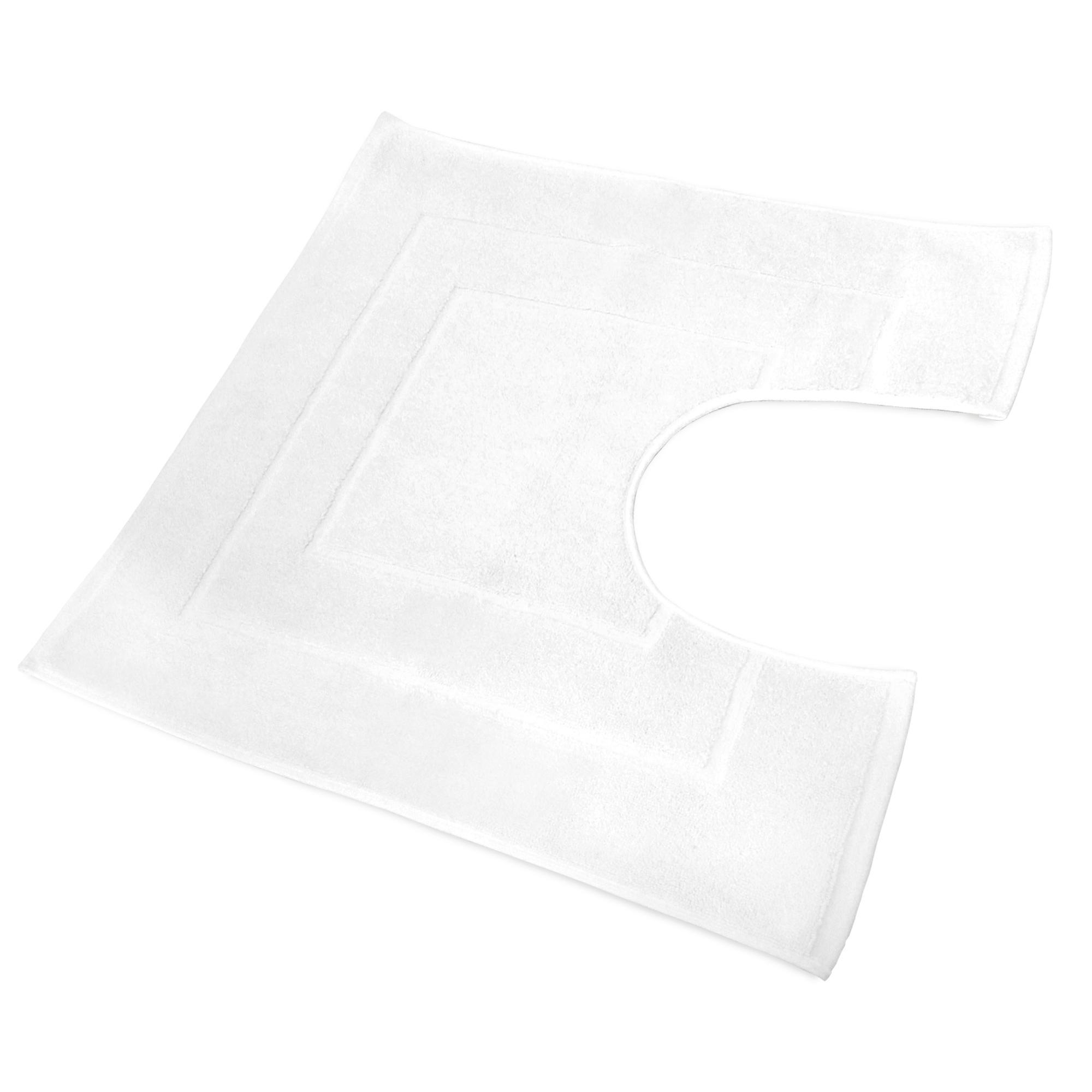 tapis de bain contour wc 60x60cm uni coton flair blanc linnea linge de maison et. Black Bedroom Furniture Sets. Home Design Ideas