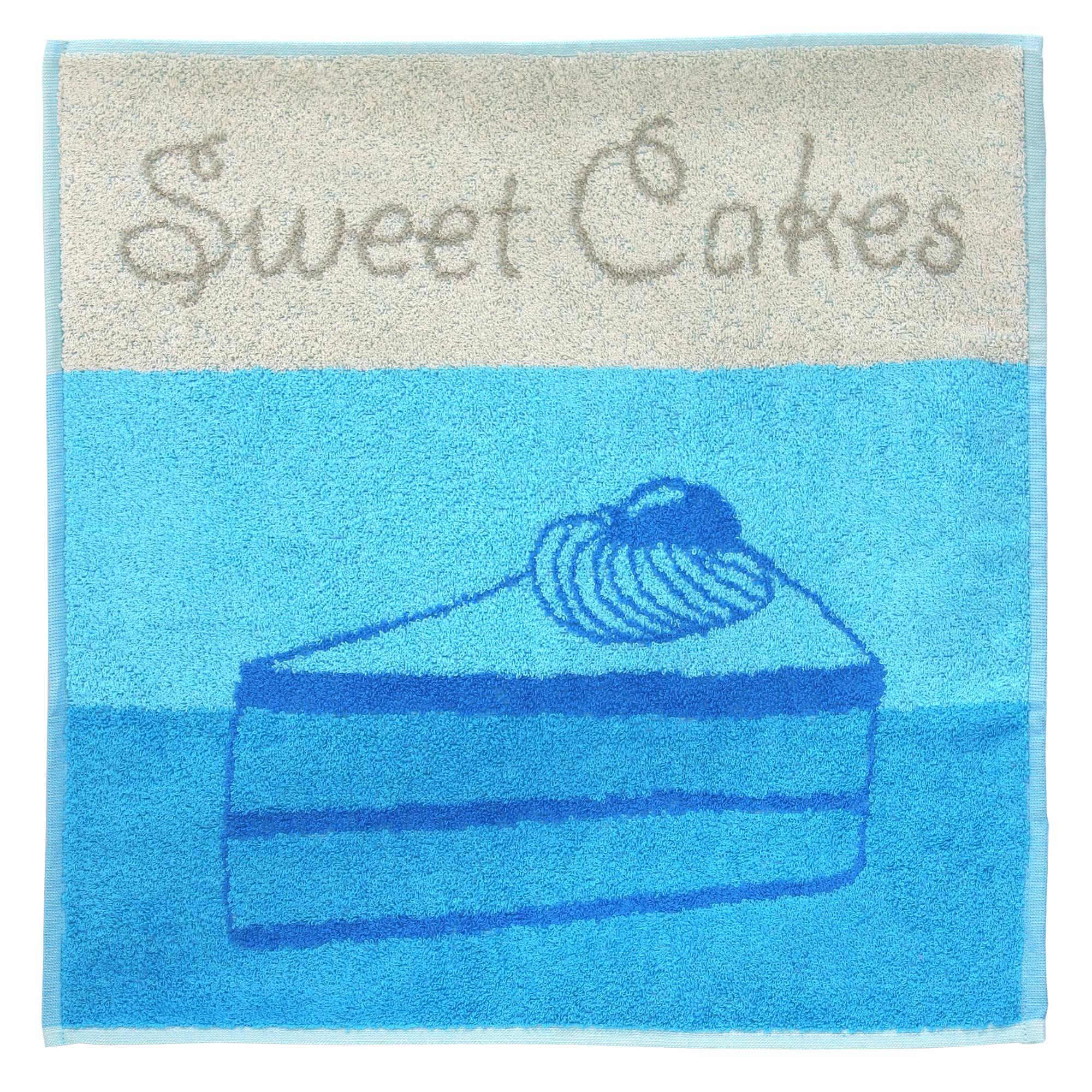 torchon de cuisine ponge 50x50 cm cakes bleu linnea linge de maison et. Black Bedroom Furniture Sets. Home Design Ideas