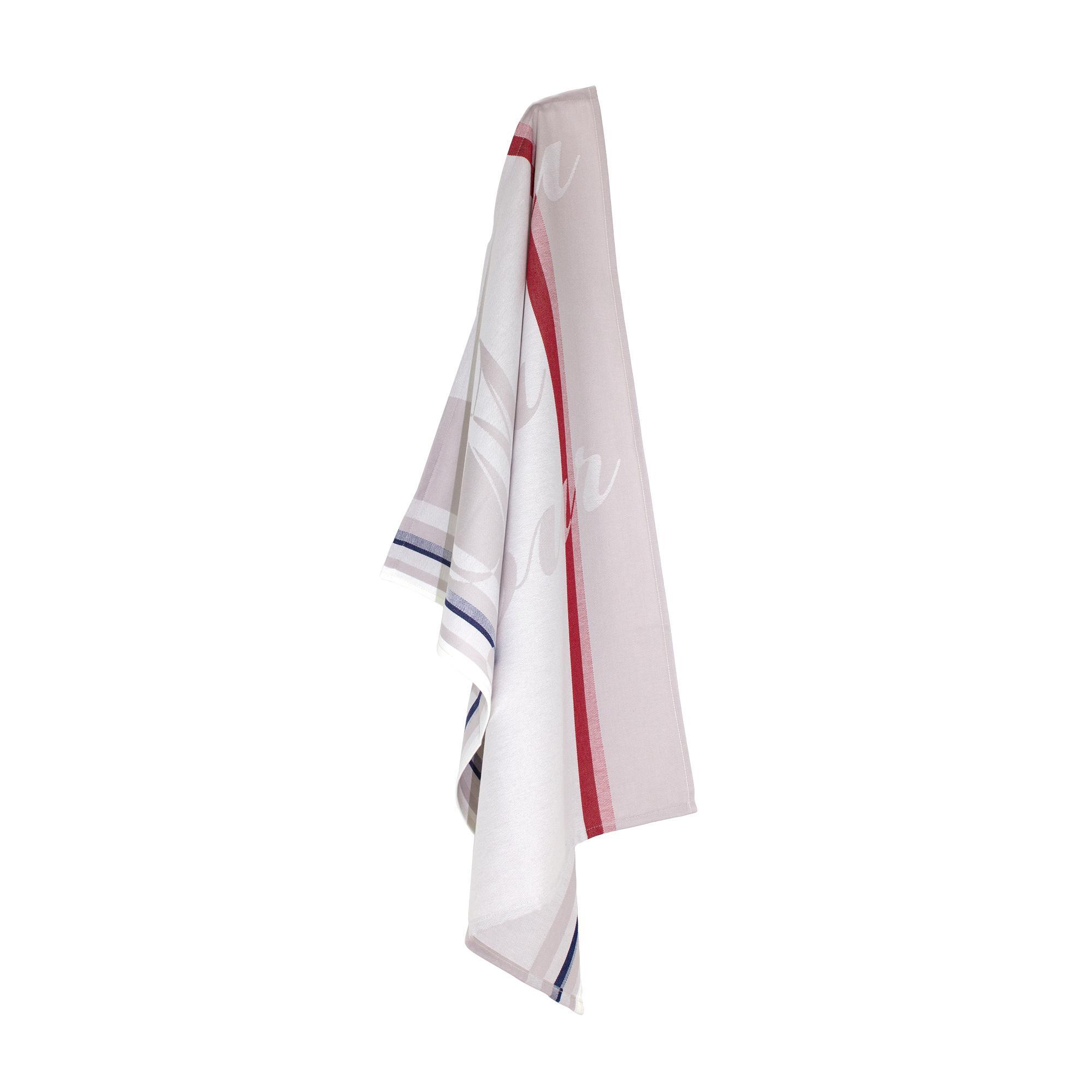 torchon de cuisine jacquard 60x77cm marianne blanc linnea vente de linge de maison. Black Bedroom Furniture Sets. Home Design Ideas