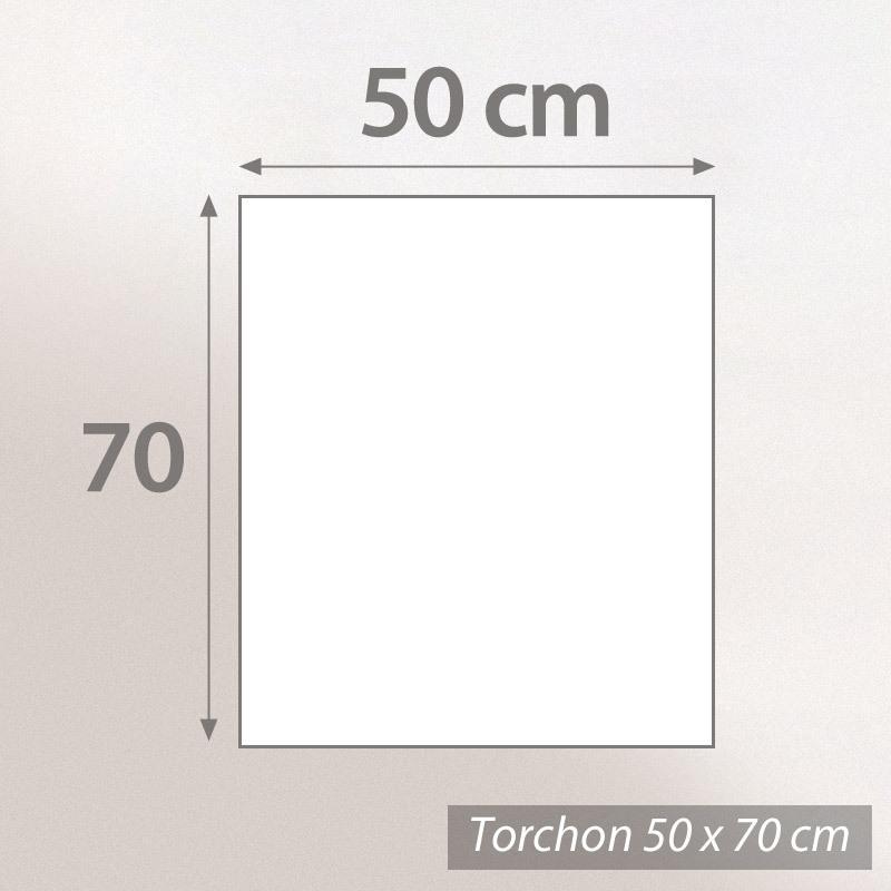 torchon de cuisine toile 50x70 cm georgia orange linnea linge de maison et. Black Bedroom Furniture Sets. Home Design Ideas