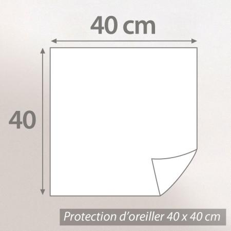 Housse de protection oreiller 40x40 cm Antonin - Molleton absorbant traité anti-acariens